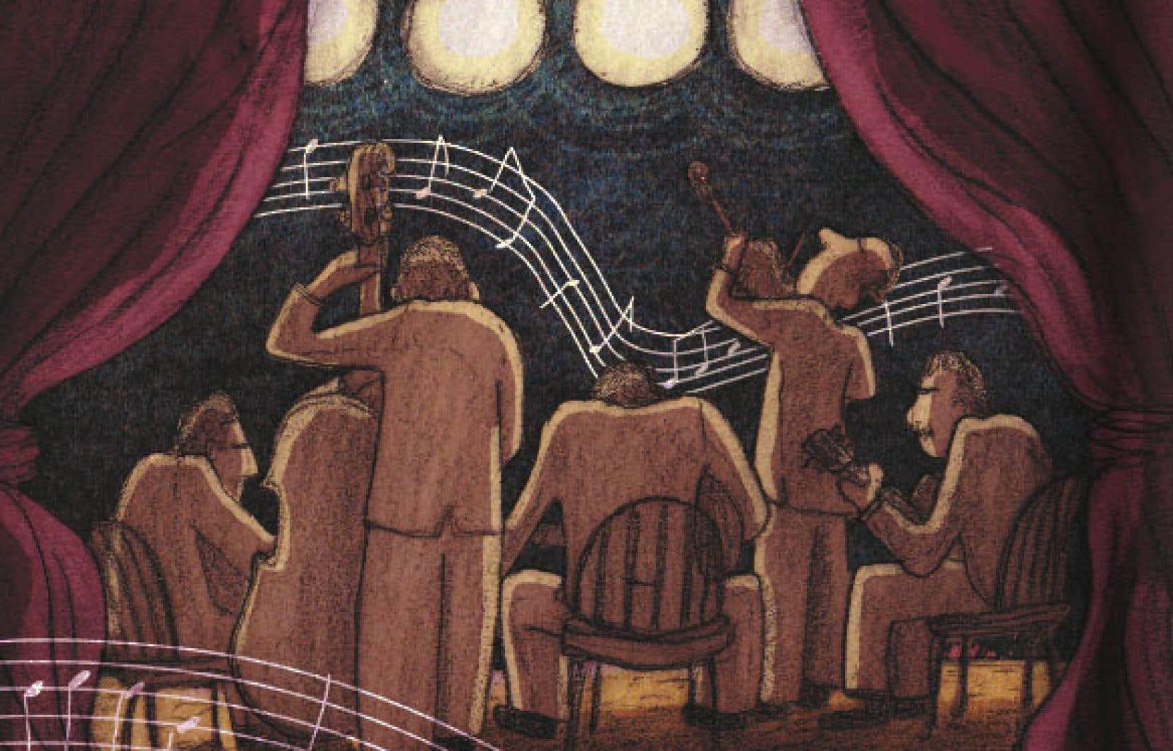 Détail d'une illustration tirée de «Ça sent le swing!»