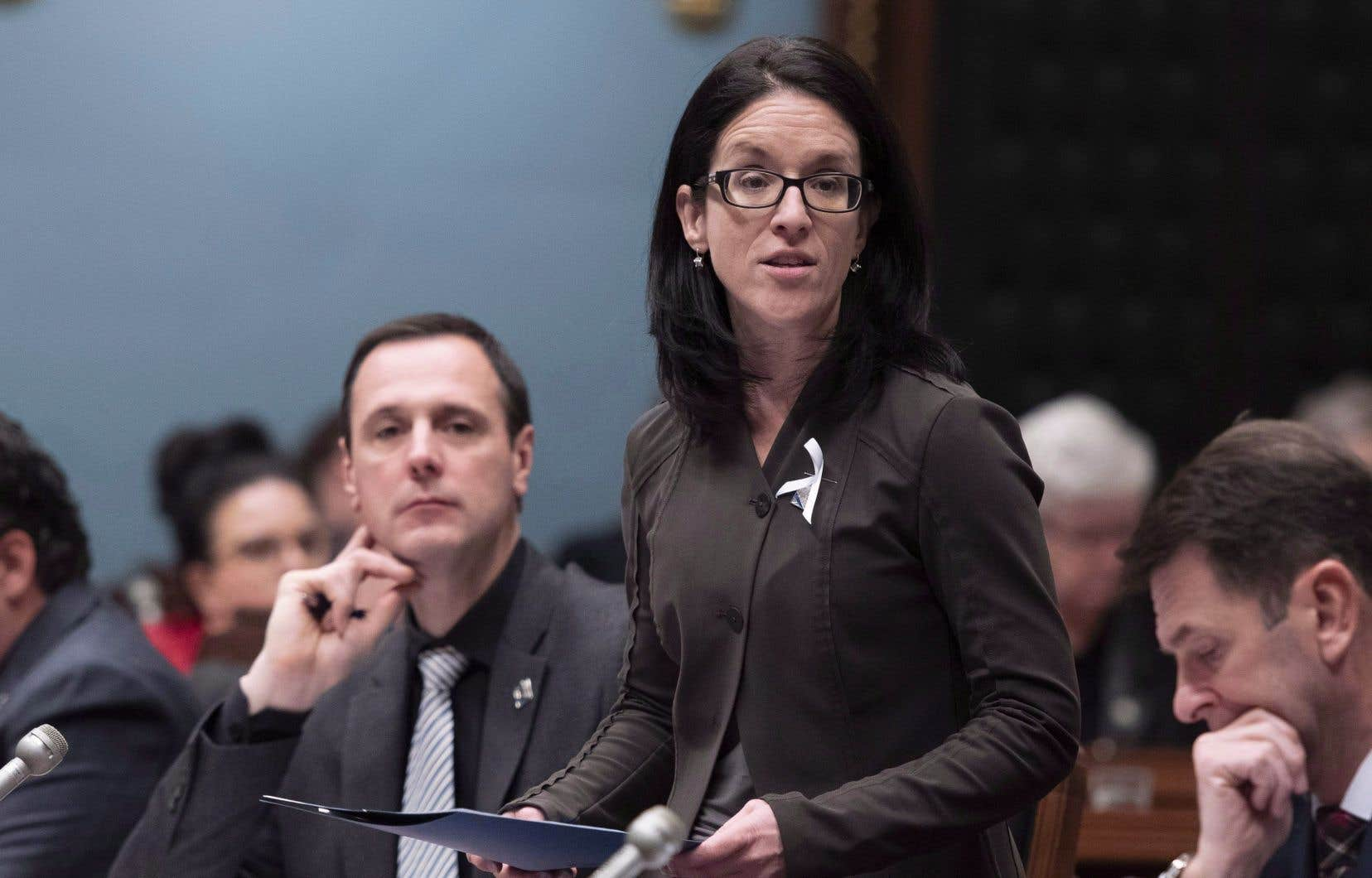 La ministre responsable des Relations canadiennes, Sonia LeBel