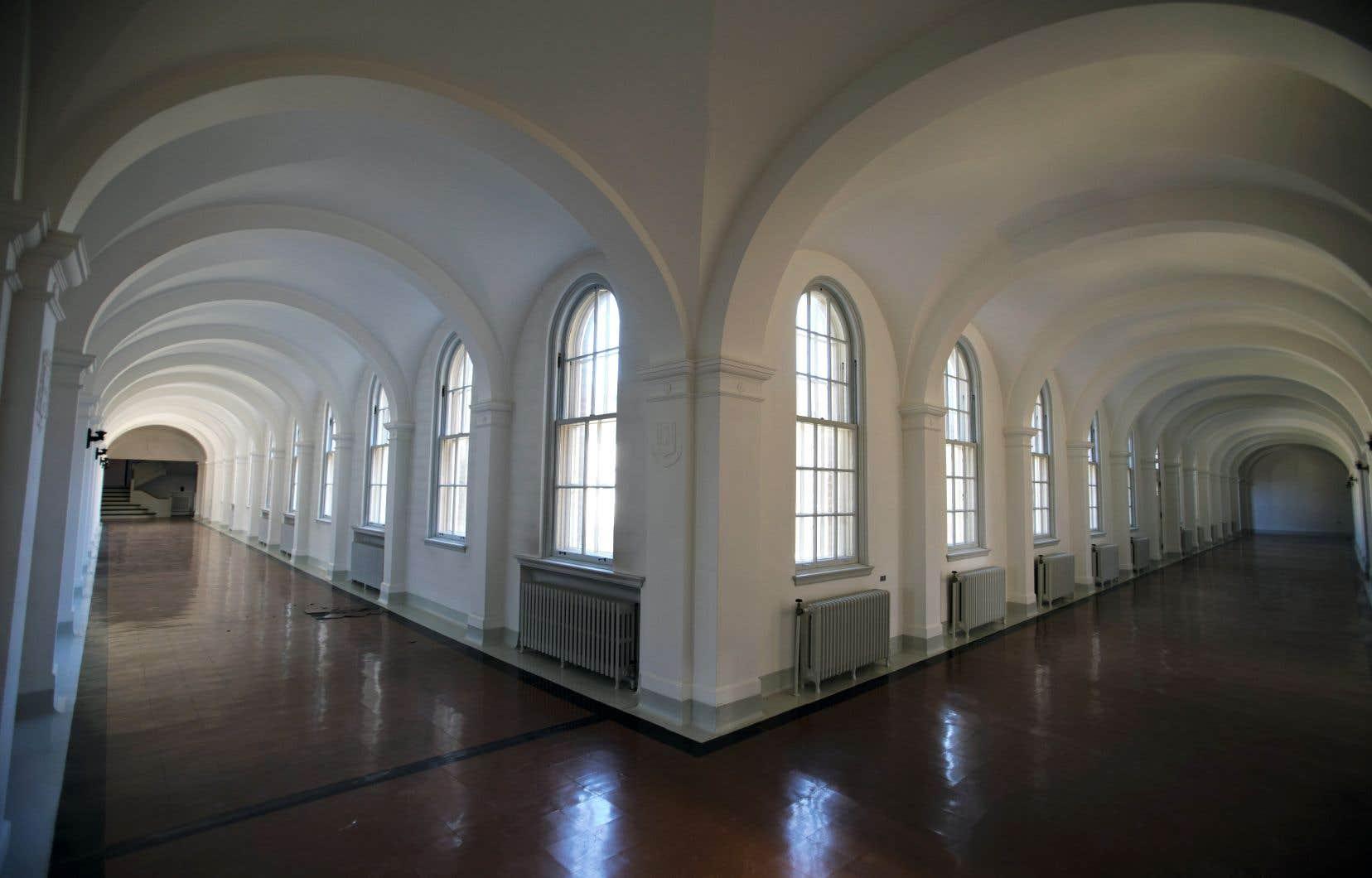 Une partie du cloître du monastère des Moniales de Berthierville, que le ministère de la Culture entend protéger