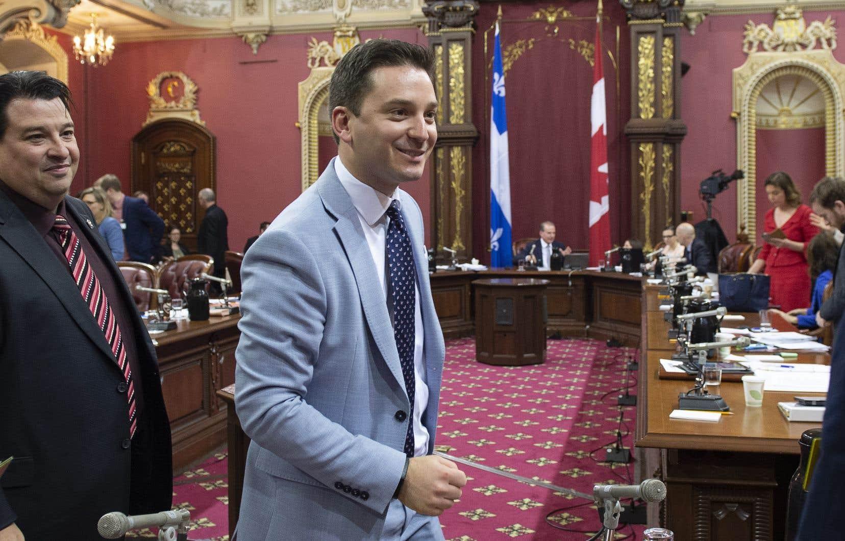 Le ministre de l'Immigration, de la Diversité et de l'Inclusion, Simon Jolin-Barrette