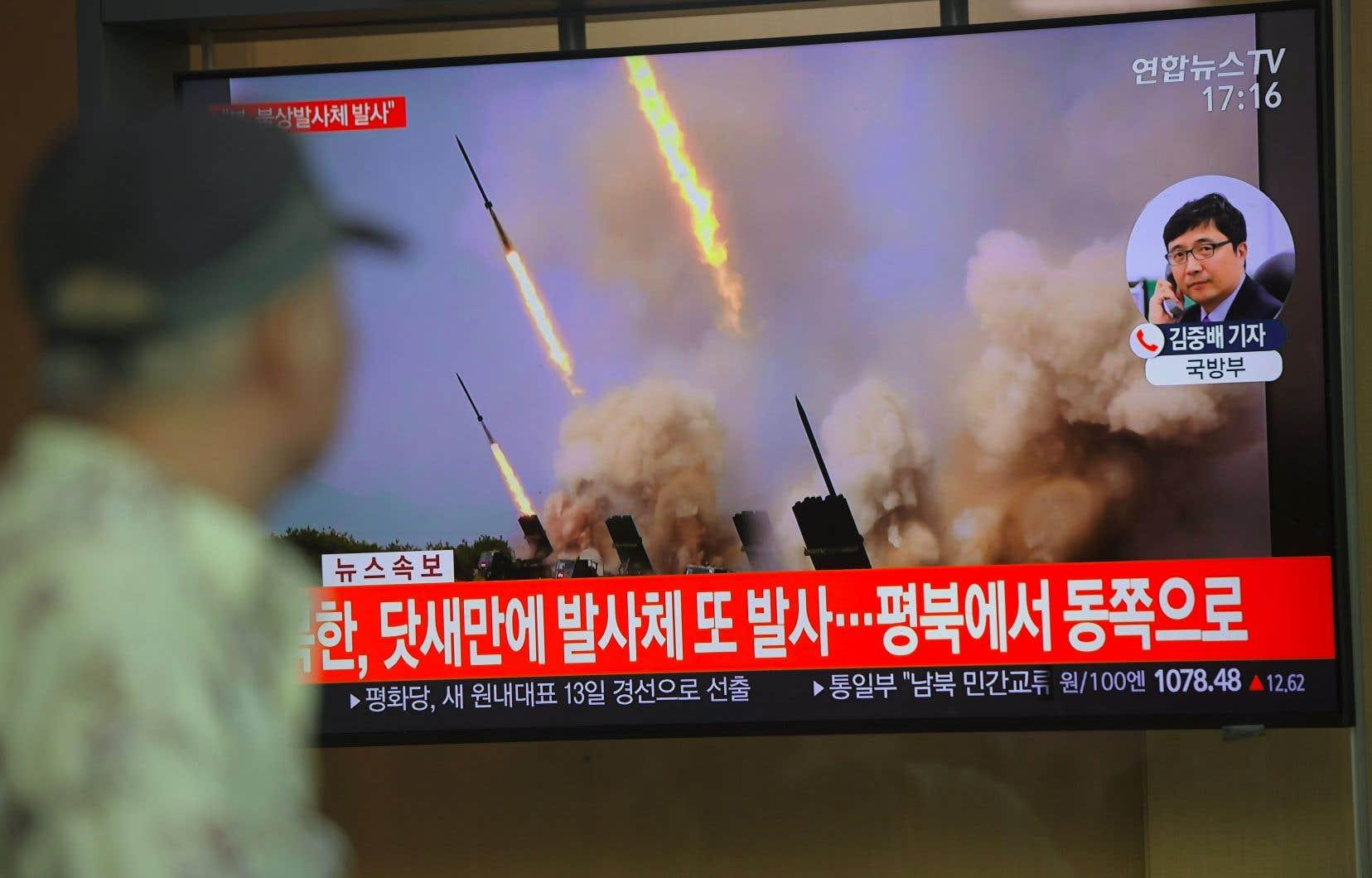 La Corée du Nord «a tiré ce qui semble être deux missiles de courte portée», a déclaré l'armée sud-coréenne dans un communiqué.
