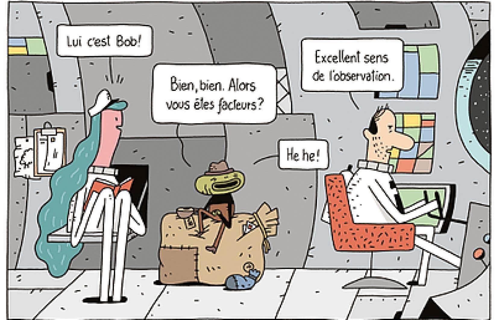 Guillaume Perreault publie le deuxième titre de la série présentant avec une candeur assumée le quotidien d'un homme solitaire dans un décor de science-fiction.