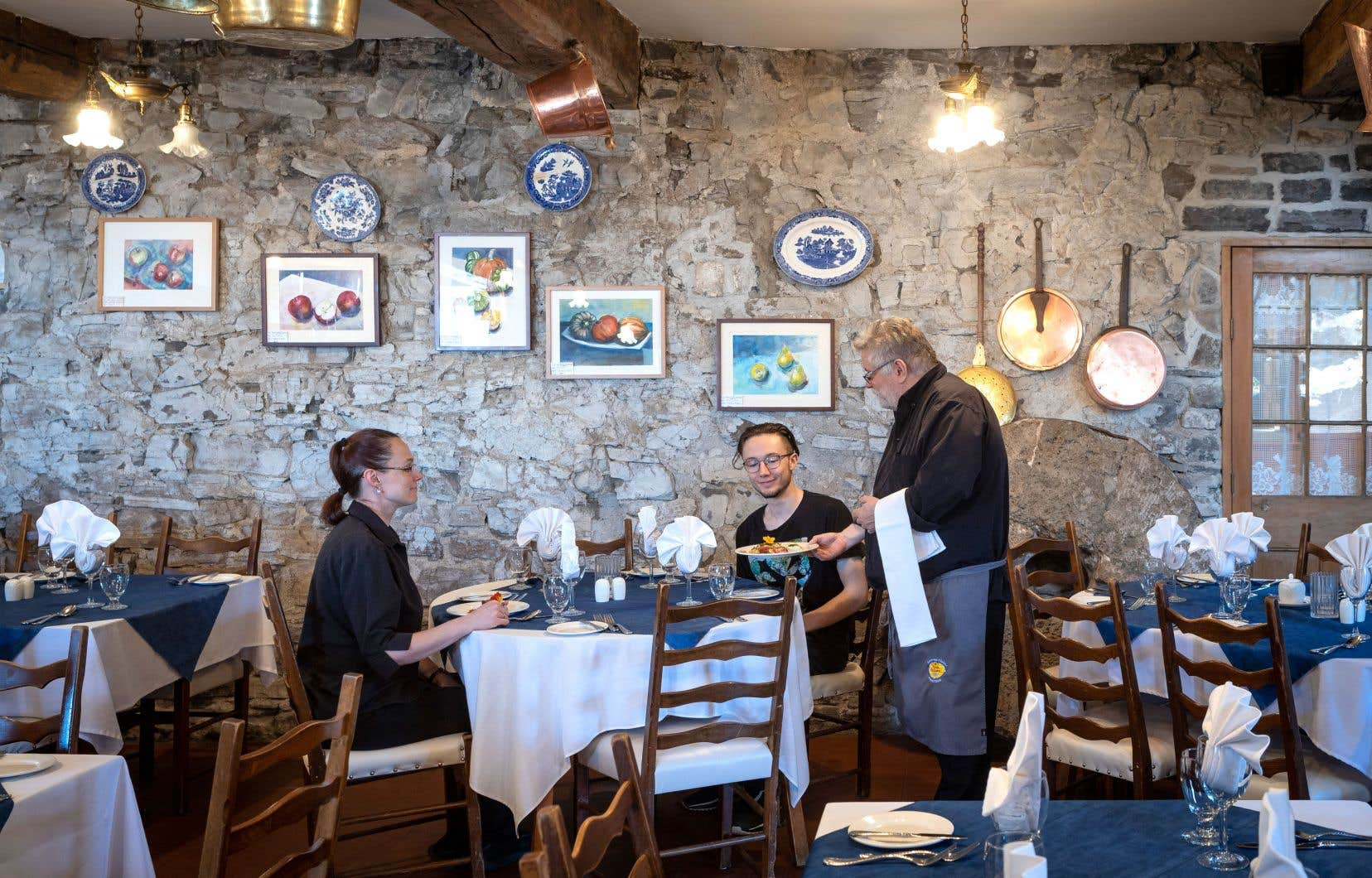 Le menu du resto fait la part belle aux produits de l'île d'Orléans.