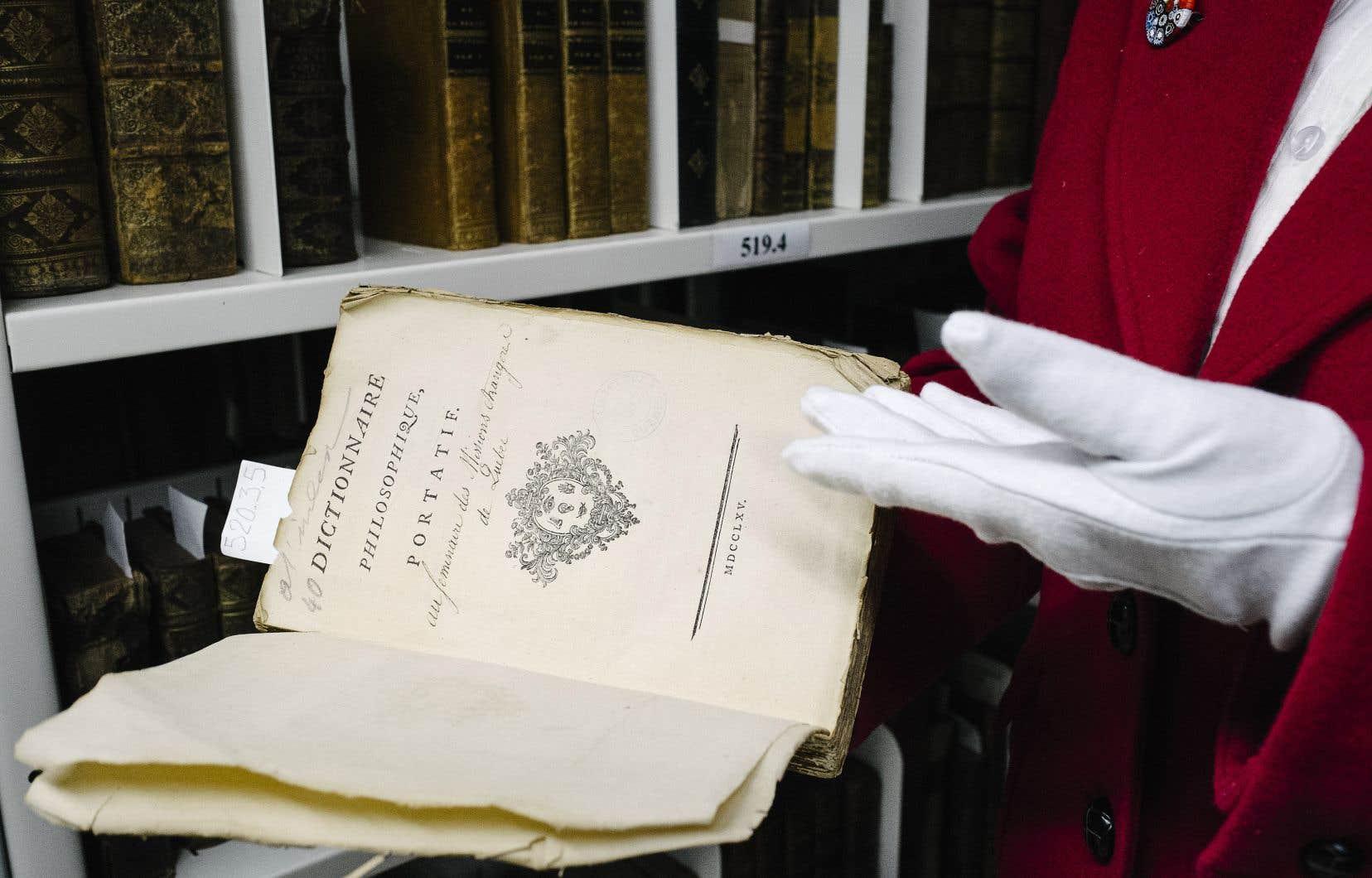 Un livre frappé d'interdit de la bibliothèque du Séminaire de Québec