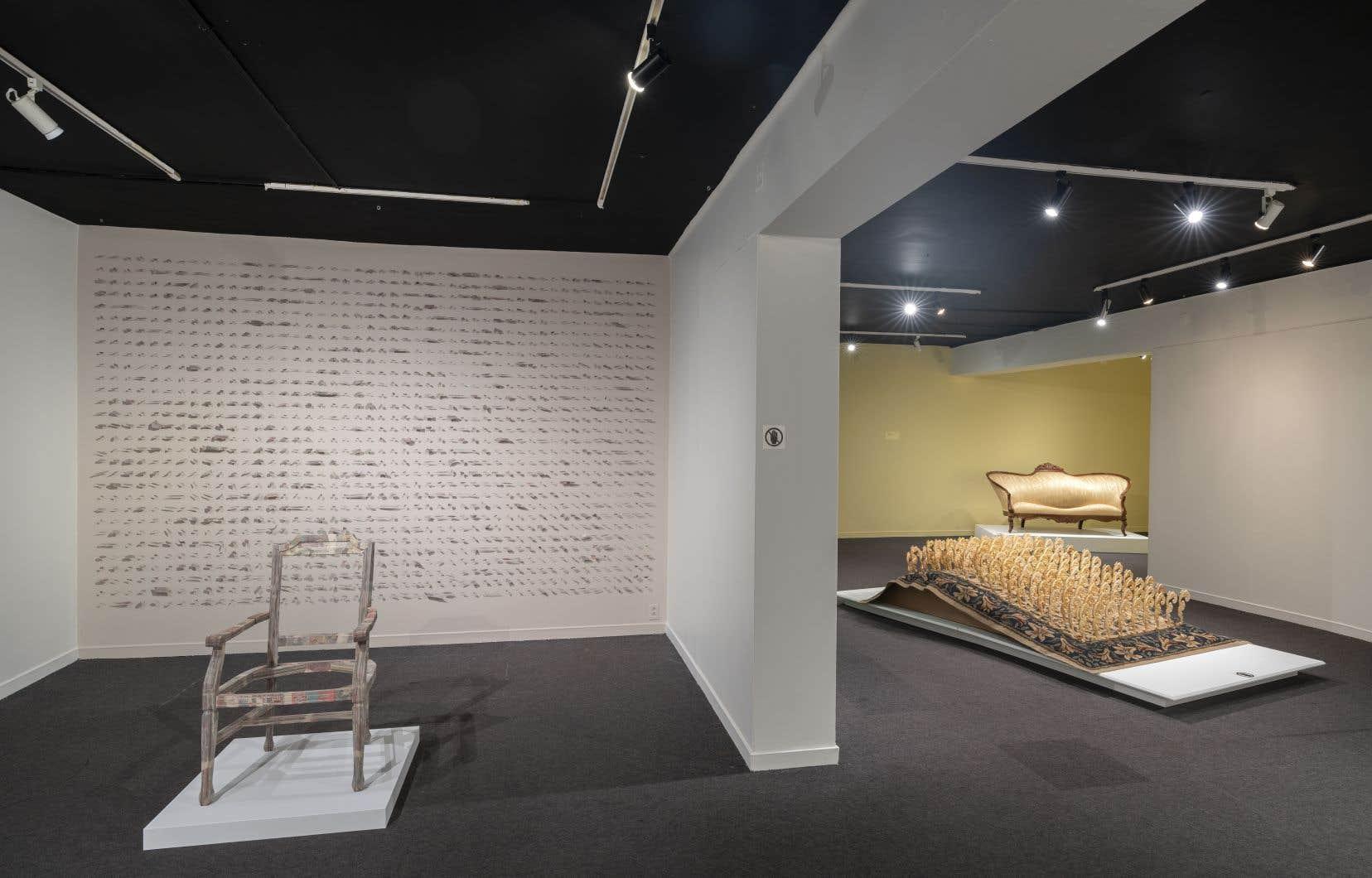 Vue de l'exposition «Rejouer l'opulence d'hier» au Château Dufresne