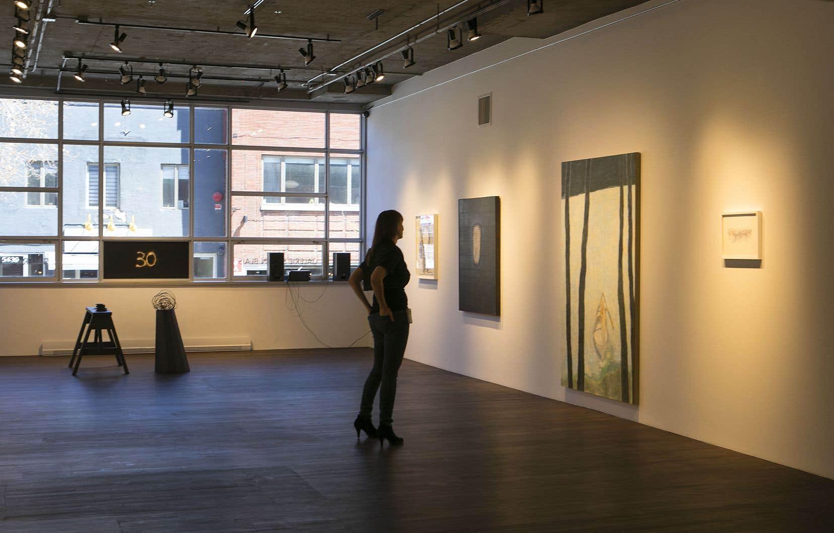 La collection présentée jusqu'au 29juin comporte des œuvres photographiques, de l'huile sur toile, de l'encre sur papier, des œuvres conceptuelles…