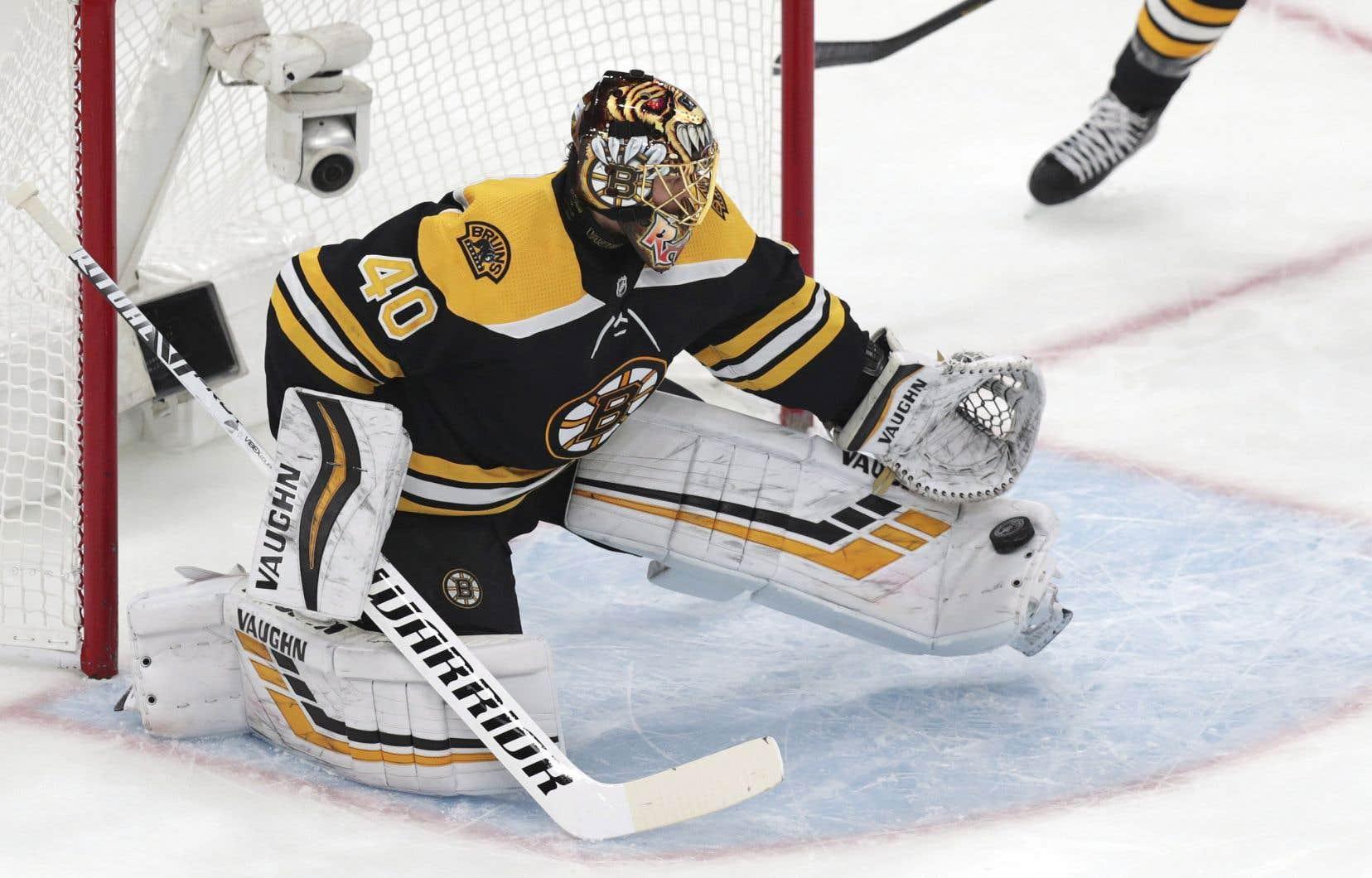 Le gardien des Bruins, Tuukka Rask, a effectué 29 arrêts pendant le match.