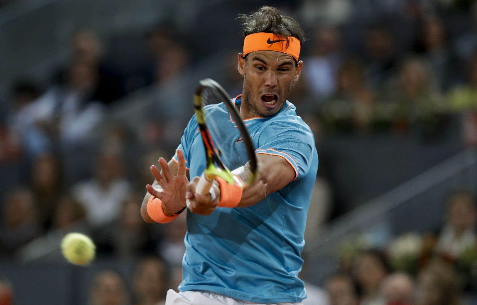 Nadal a été battu 6-4, 2-6, 6-3, samedi, lors des demi-finales de l'Omnium de Madrid.