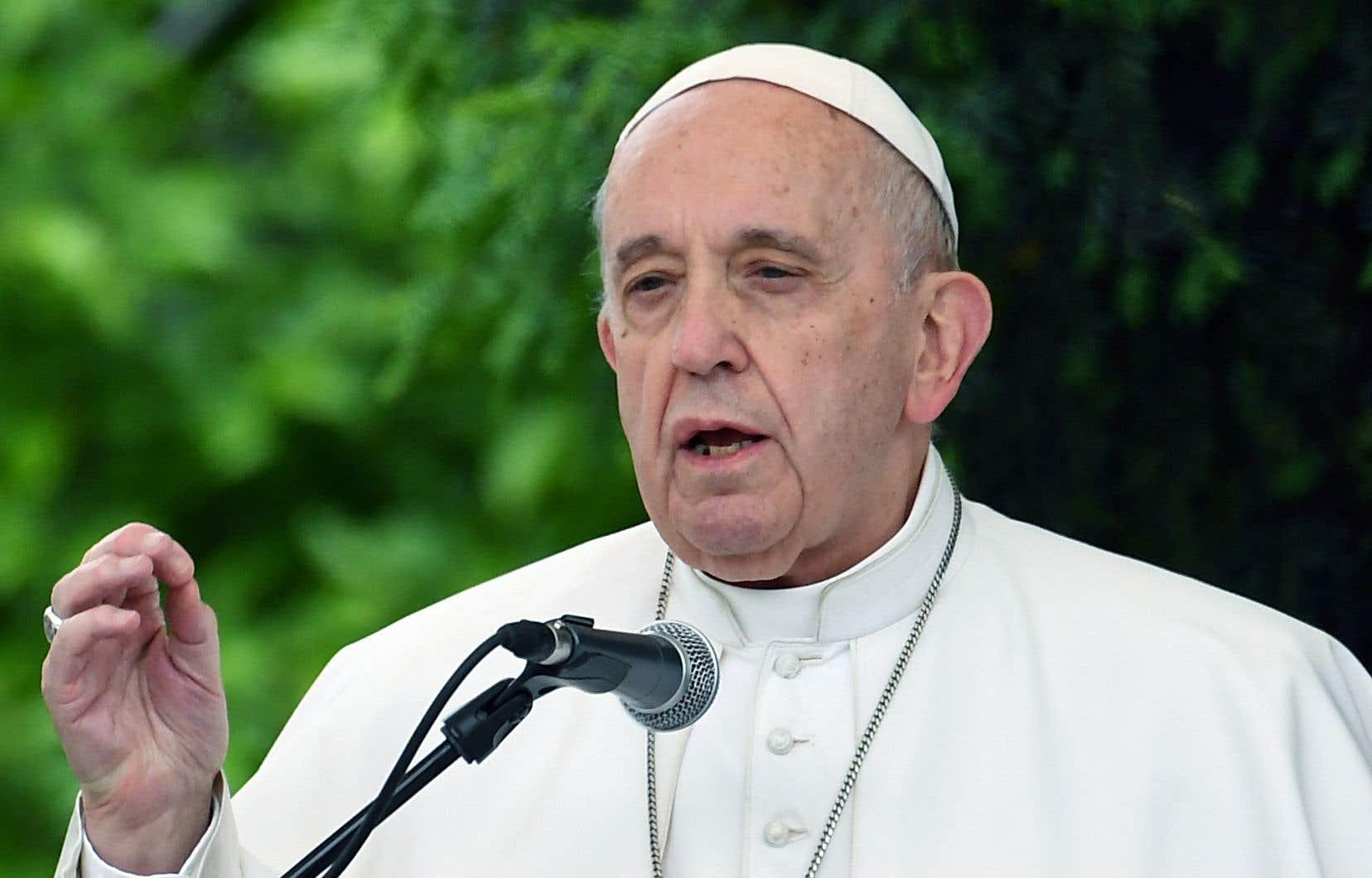 Le pape François a livré un discours lors d'une réunion œcuménique en Macédoine, le 7 mai dernier.