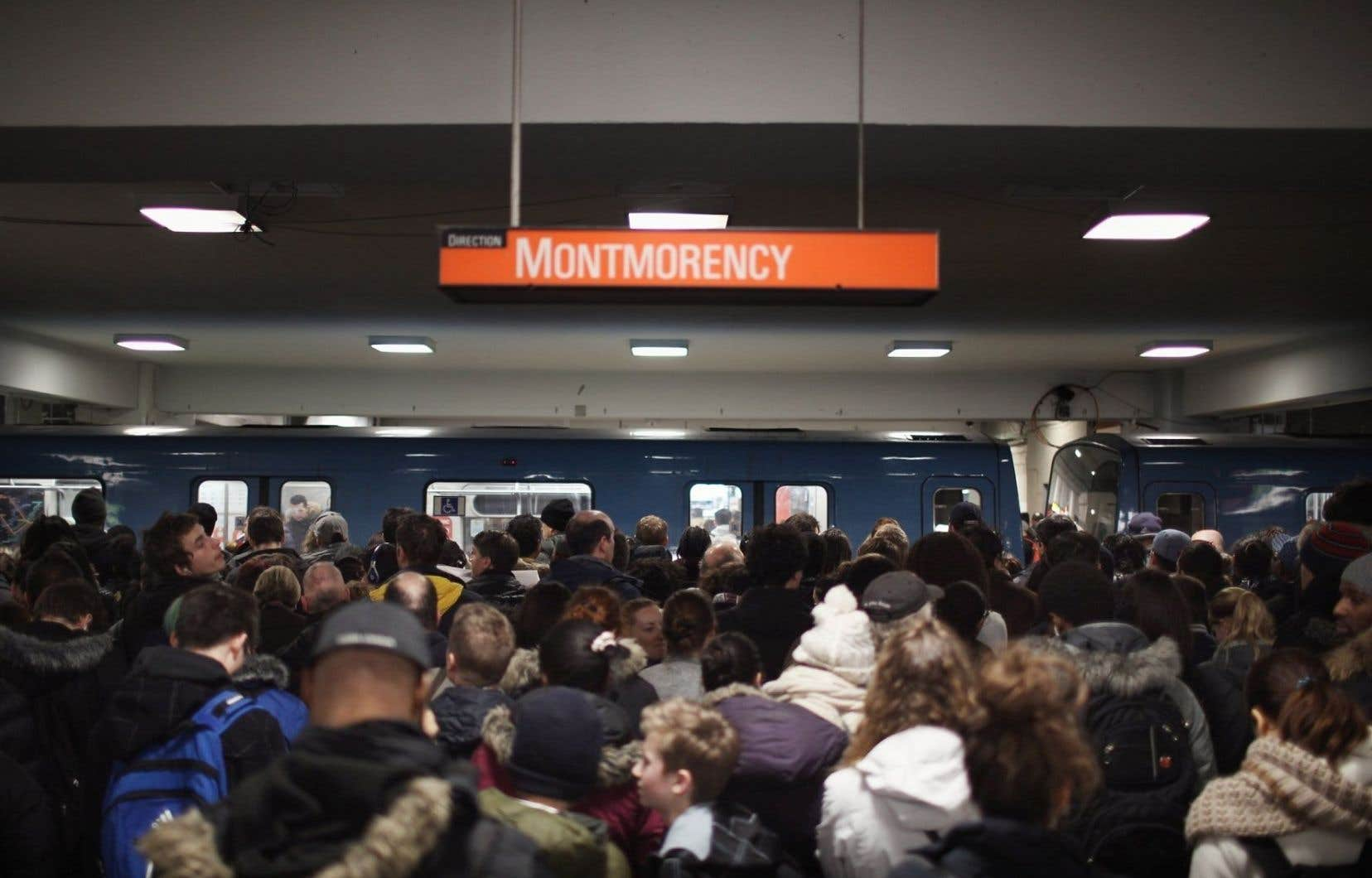 Entre les stations Beaubien et Berri-UQAM, la fréquentation de la ligne orange a connu une croissance de 19 % au cours des 10 dernières années.