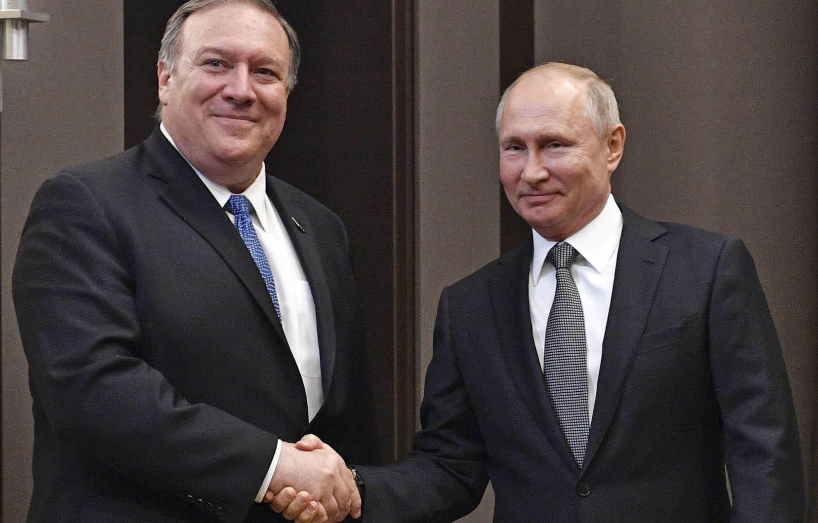 Le secrétaire d'État américain Mike Pompeo a été reçu par le président russe Vladimir Poutine à Sotchi.