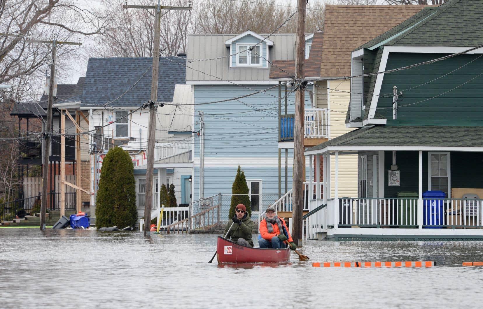 L'Outaouais est la région la plus durement touchée par les inondations.
