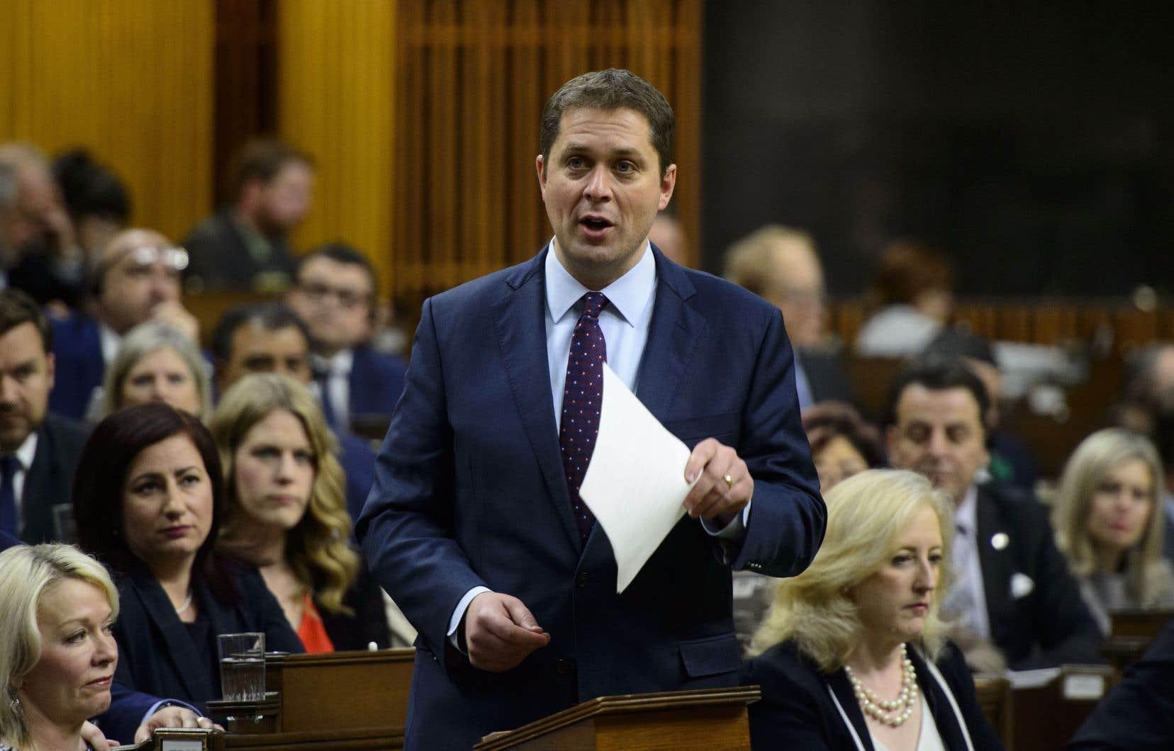 AndrewScheer estime que le gouvernement libéral, et le premier ministre Justin Trudeau en tête, n'agit pas en conformité avec le discours environnemental qu'il tient.