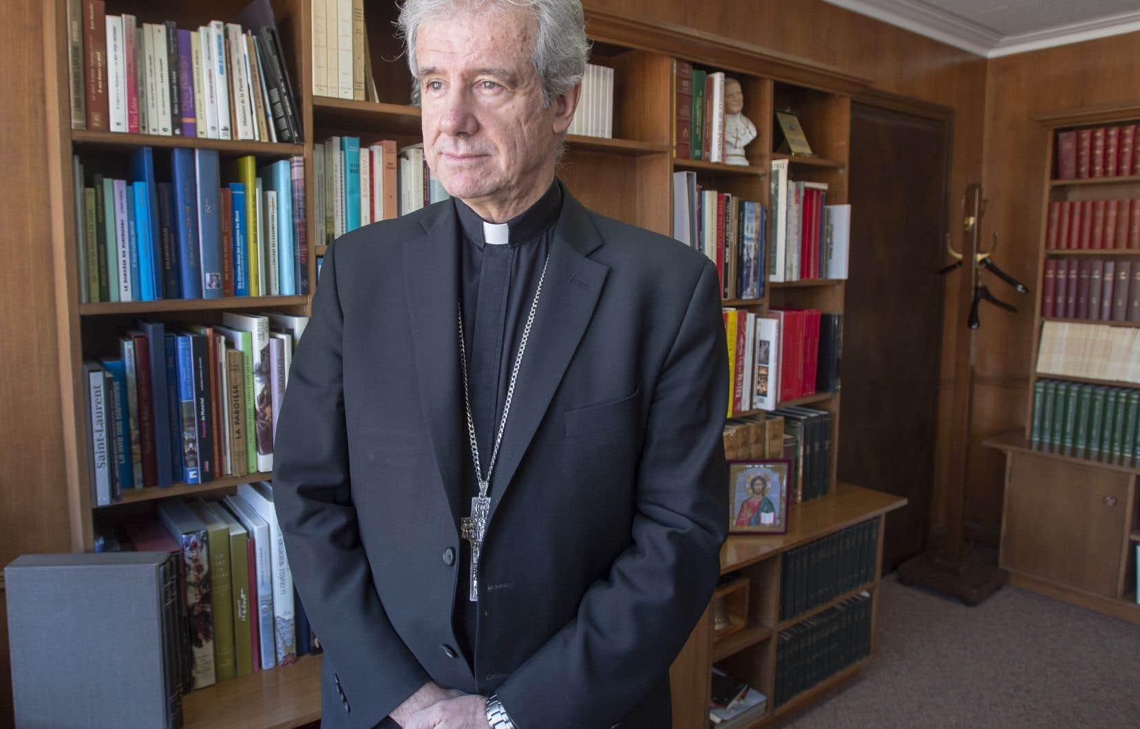 L'archevêque de Montréal, Christian Lépine, craint que le projet de loi 21 ne provoque un recul des libertés individuelles.