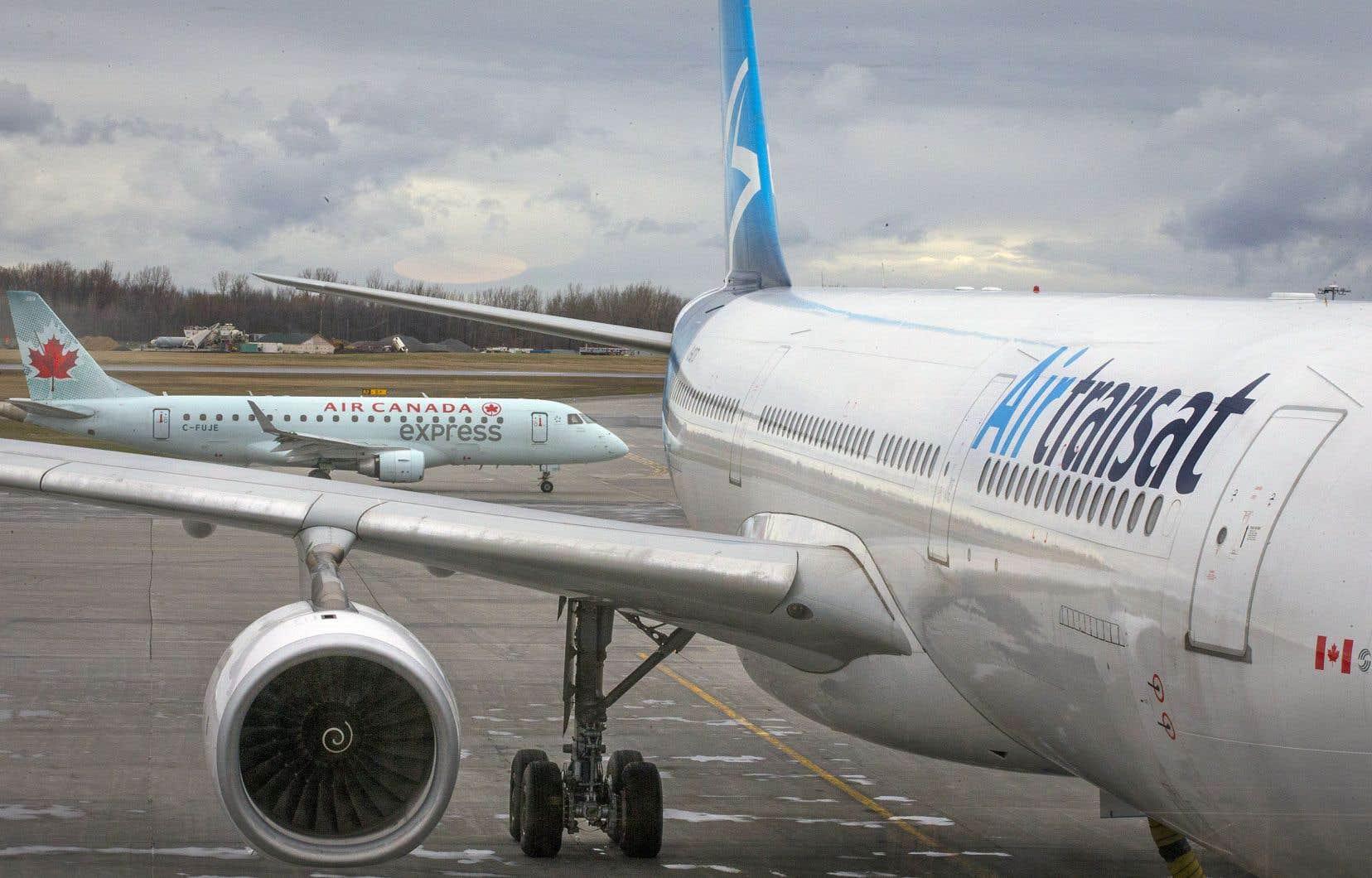Un rapprochement Air Canada-Transat soulève un enjeu de concentration dans l'industrie du transport aérien.