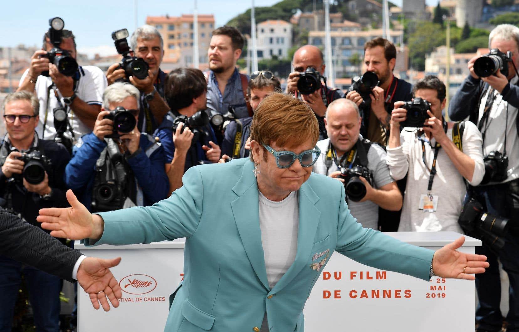 Elton John était présentsur la Croisette pour la projection du film<em>Rocketman.</em>