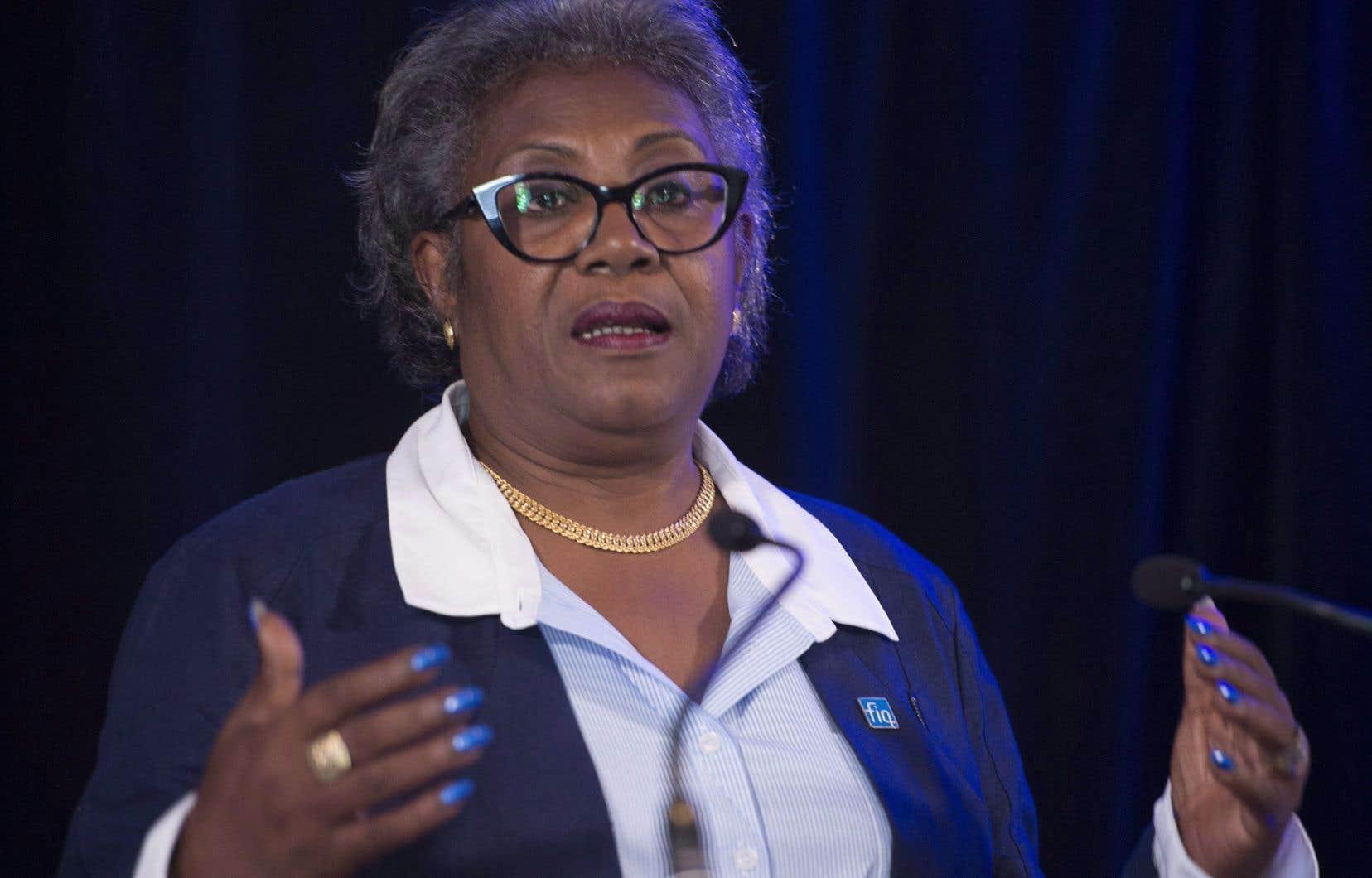 L'ancienne présidente de la Fédération interprofessionnelle de la santé du Québec (FIQ), Régine Laurent