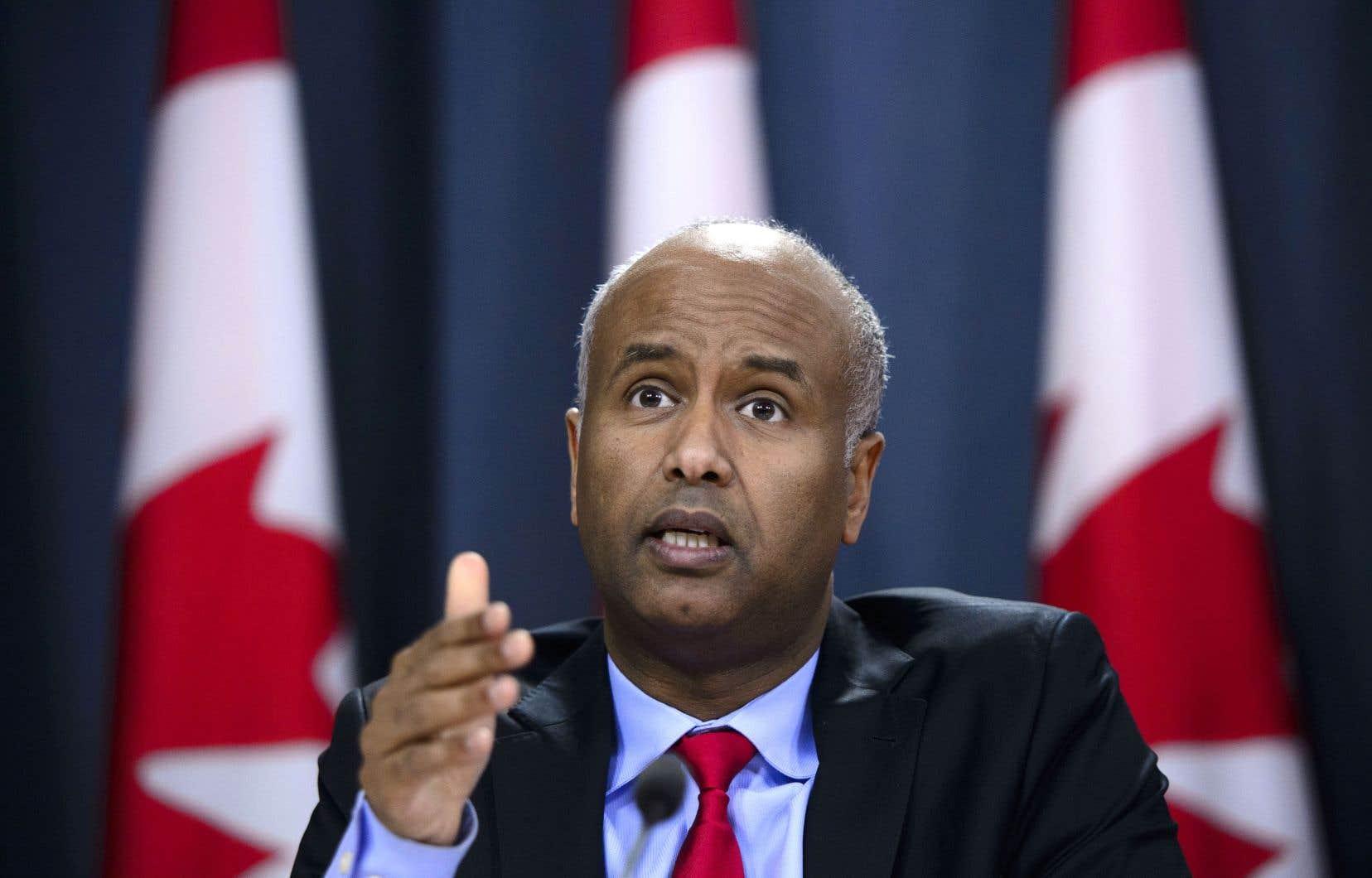 Le ministre de l'Immigration, Ahmed Hussen, affirme que le changement apporté par ses prédécesseurs n'avait pas réduit le nombre de demandes provenant des pays désignés.