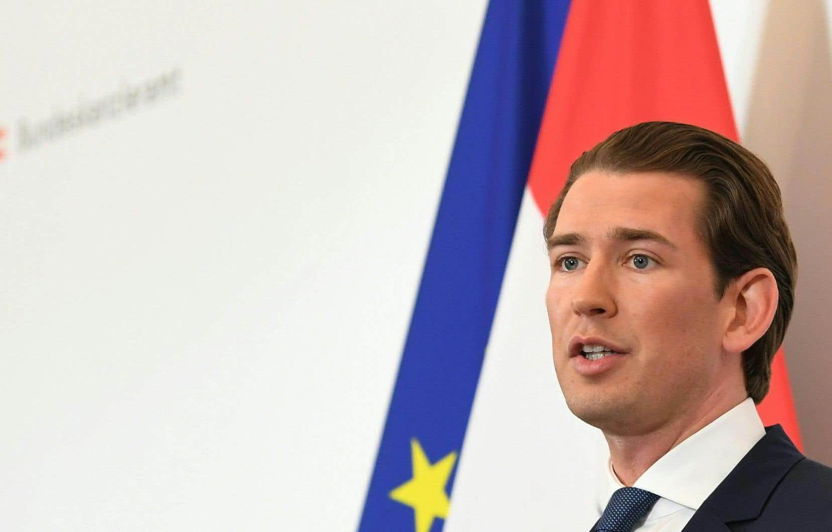 Le chancelier autrichien, Sebastian Kurz