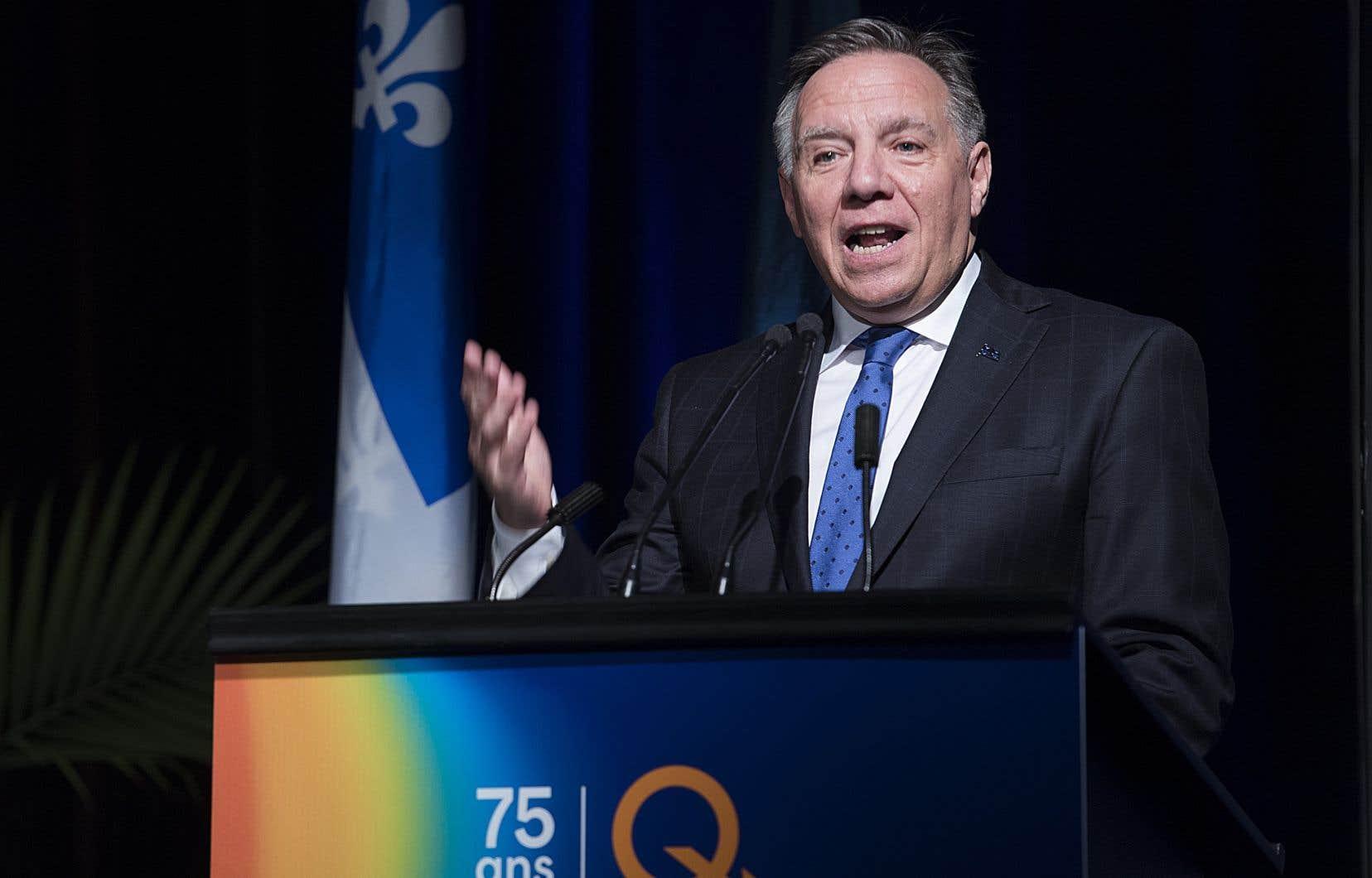 Le séjour de François Legault sera axé entre autres autour la promotion de l'hydroélectricité québécoise.