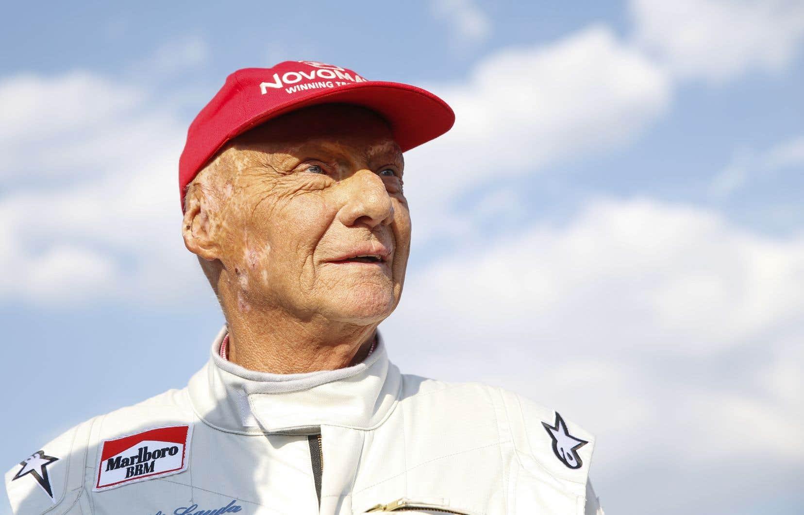 L'ancien pilote de course automobile Niki Lauda, en 2018