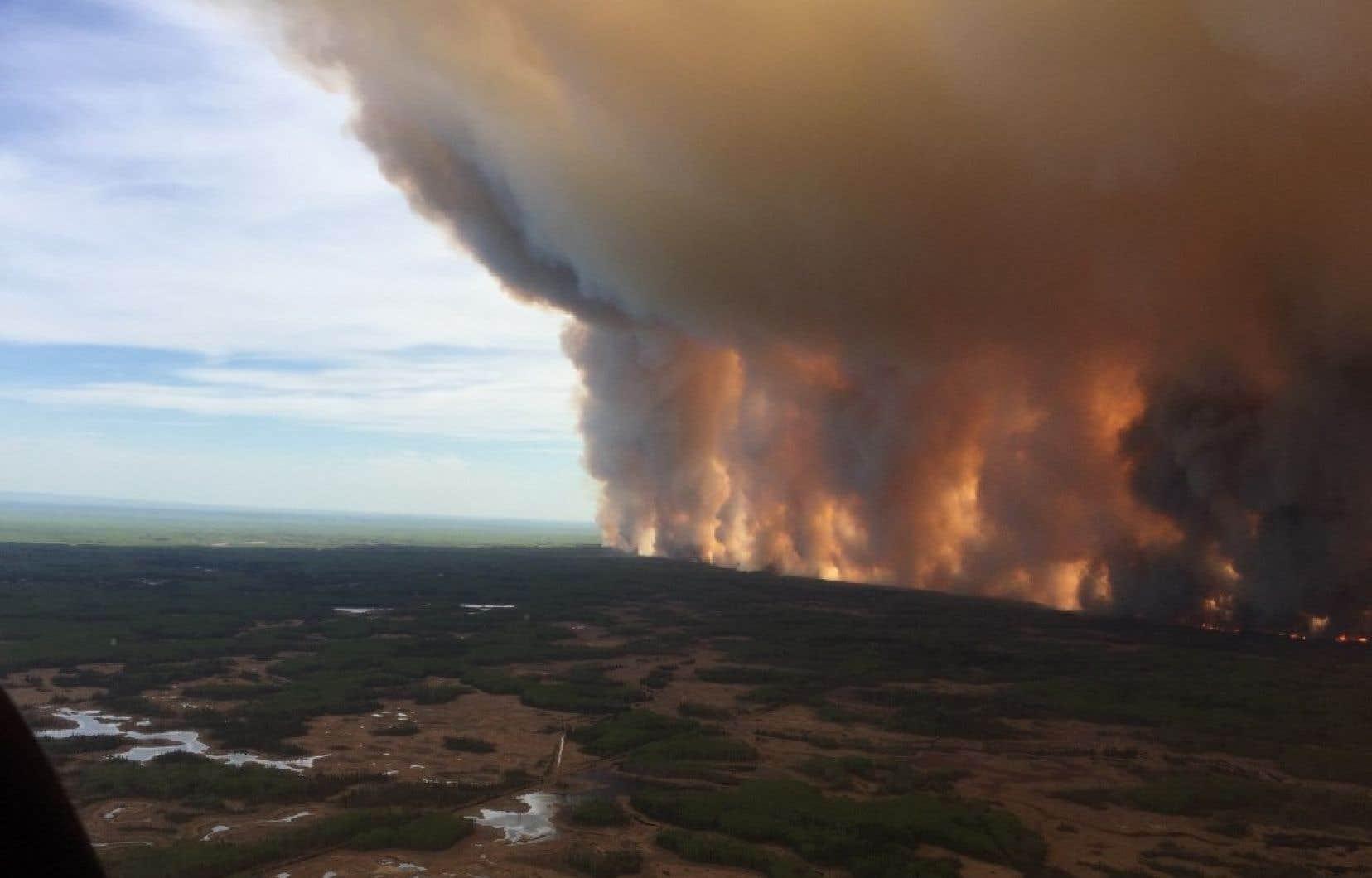 L'incendie «Chuckegg Creek» fait rage depuis plusieurs jours. Il s'étendait sur 69 000 hectares lundi.