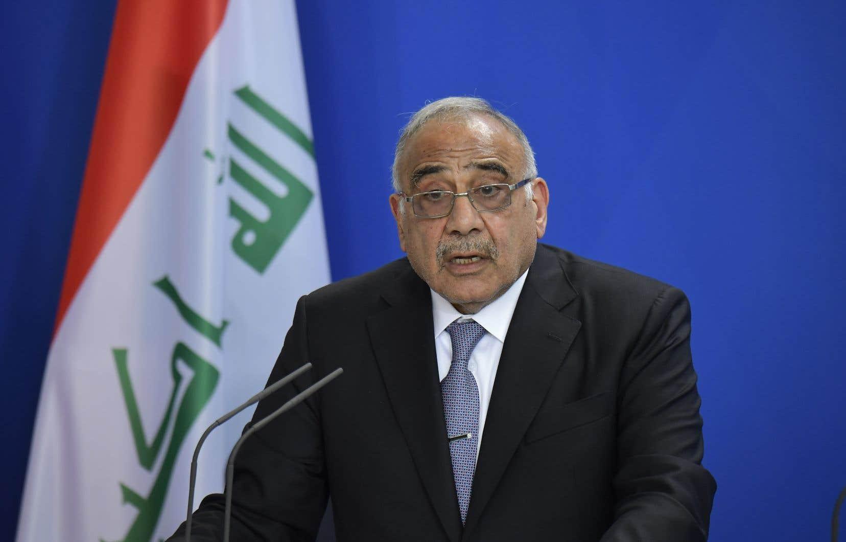 Le premier ministre irakien Adel Abdel Mahdi a annoncé mardi l'envoi «très prochainement de délégations à Téhéran et Washington pour pousser à l'apaisement» et pour éviter que l'Irak ne devienne un théâtre de guerre.