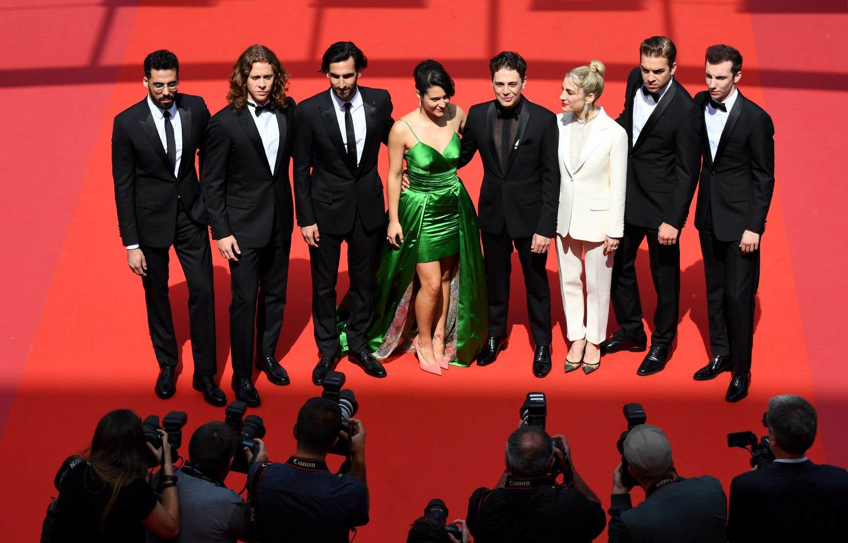 Le réalisateur Xavier Dolanétait notamment entouré des acteurs Catherine Brunet, Antoine Pilon, Gabriel D'Almeida Freitas, Adib Alkhalidey et Pierre-Luc Funk.