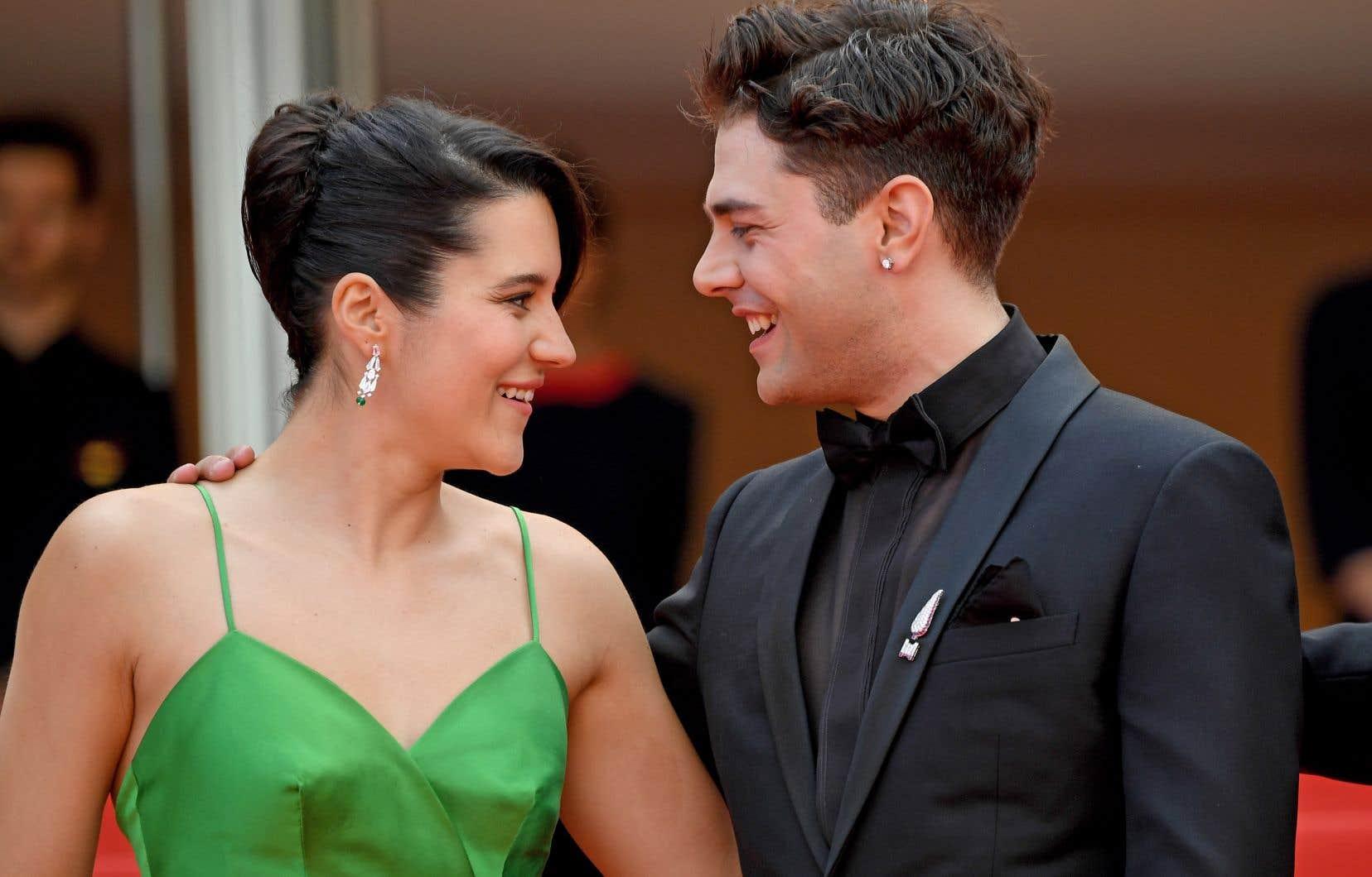 Le réalisateur Xavier Dolan et l'actrice Catherine Brunet à leur arrivée à la projection de <em>Matthias et Maxime</em>