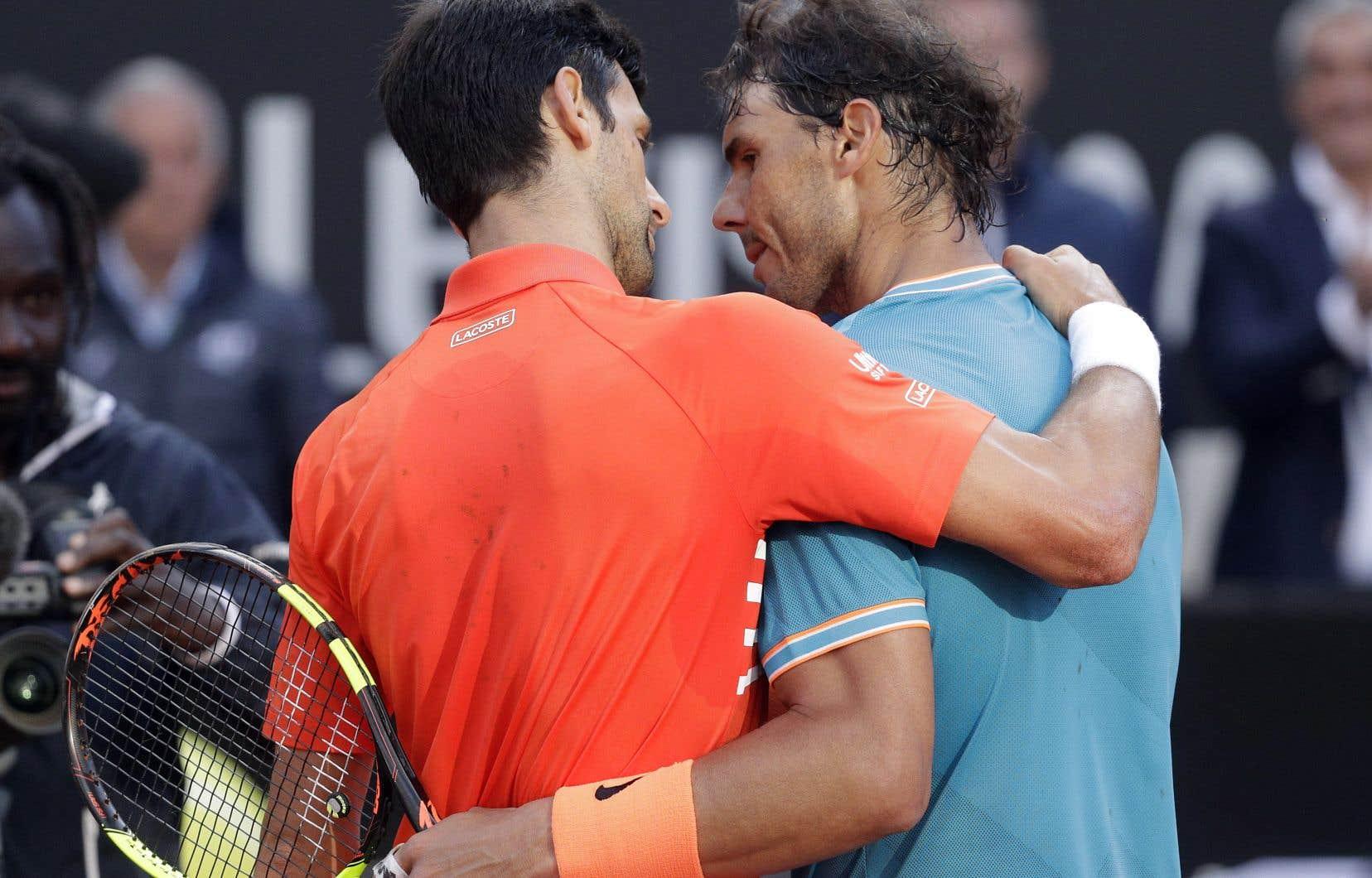 Novak Djokovic et Rafael Nadal se sont affrontés en finale du tournoi de Rome, dimanche dernier. Ensemble, avec Roger Federer, ils dominent le circuit mondial de tennis depuis une douzaine d'années.