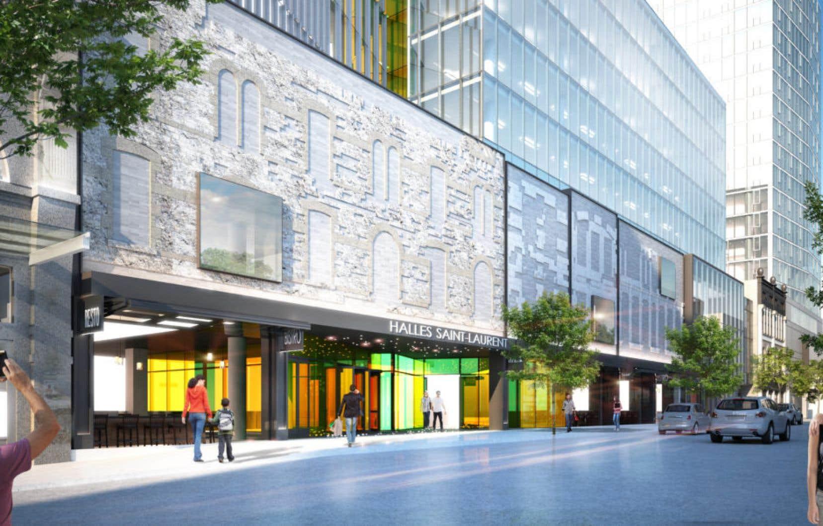 L'auteure décrit le projet comme étant «une façade flottante qui ressemble à un mauvais décor de théâtre».