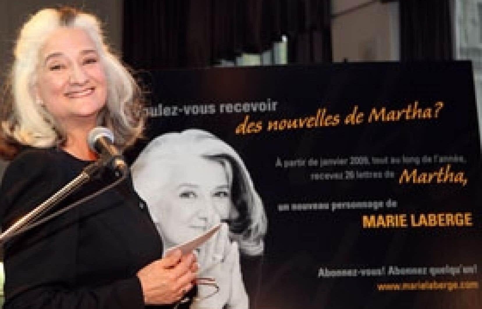 Marie Laberge a présenté hier son projet de roman épistolaire.
