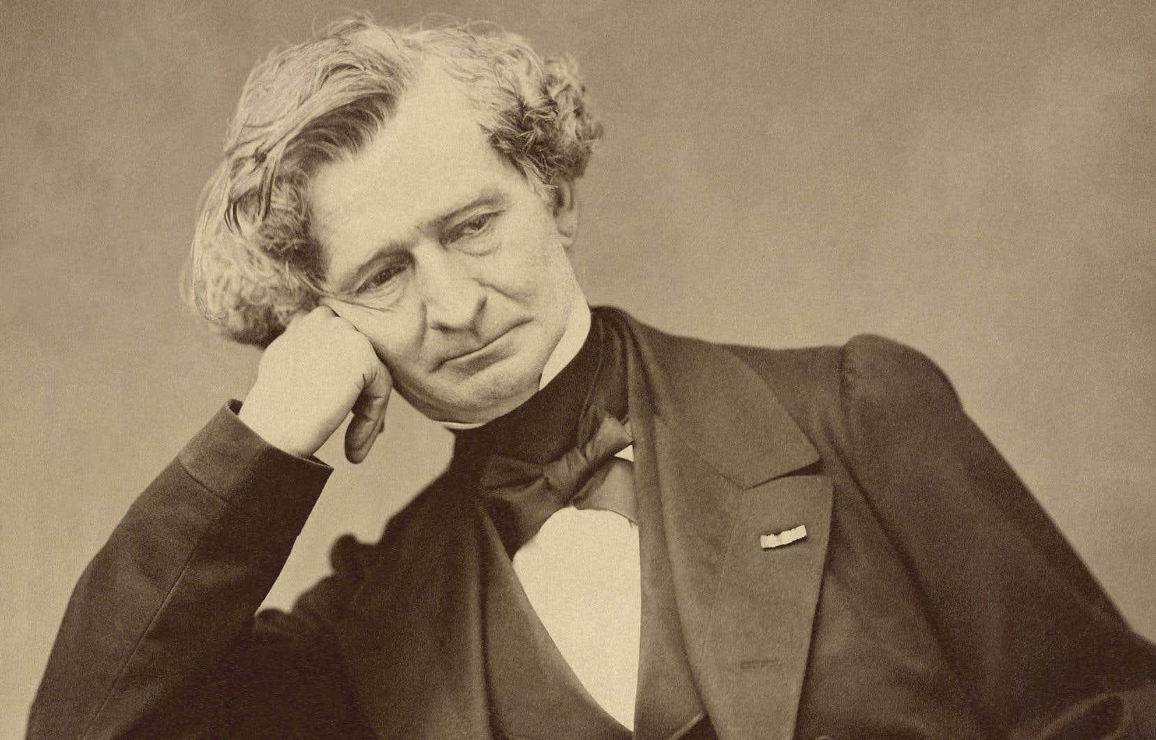 Portrait de Berlioz réalisé par Pierre Petit, en 1863