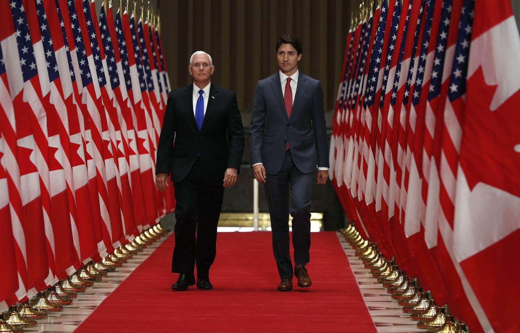 La brève visite d'une journée à Ottawa de Mike Pence est sa première en tant que vice-président des États-Unis.