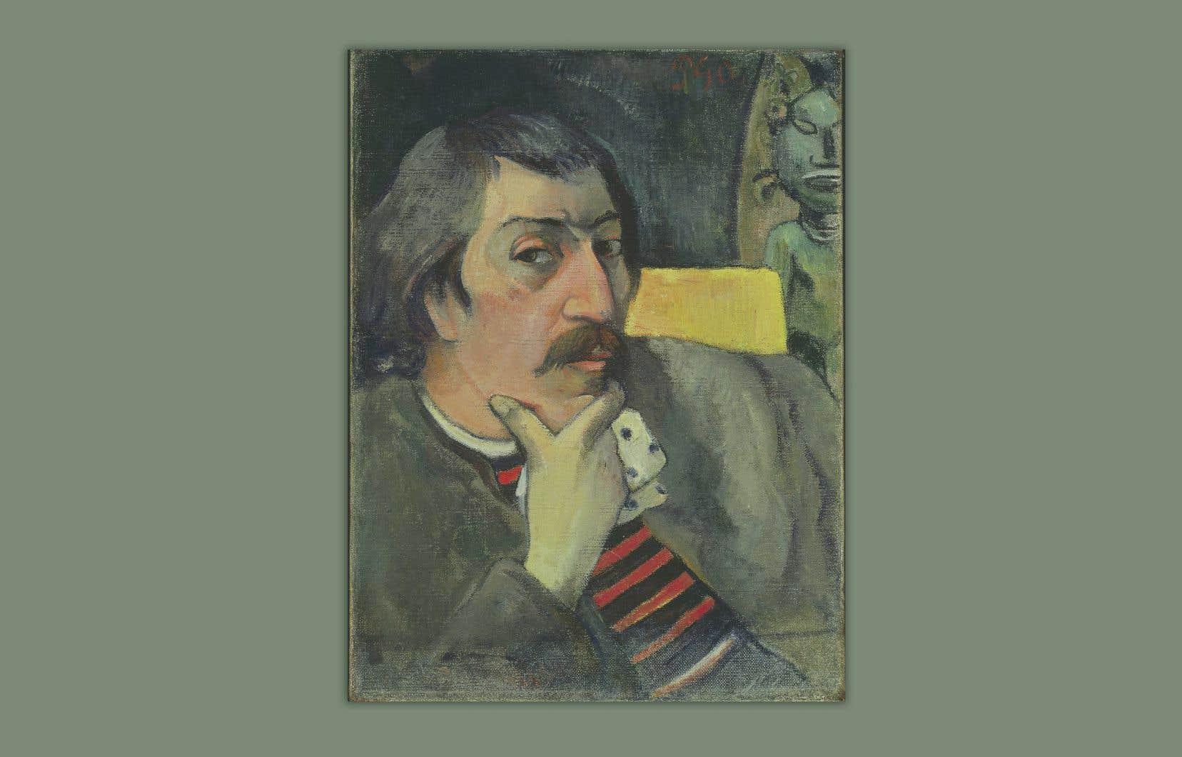 Paul Gauguin, «Autoportrait à l'idole», v.1893