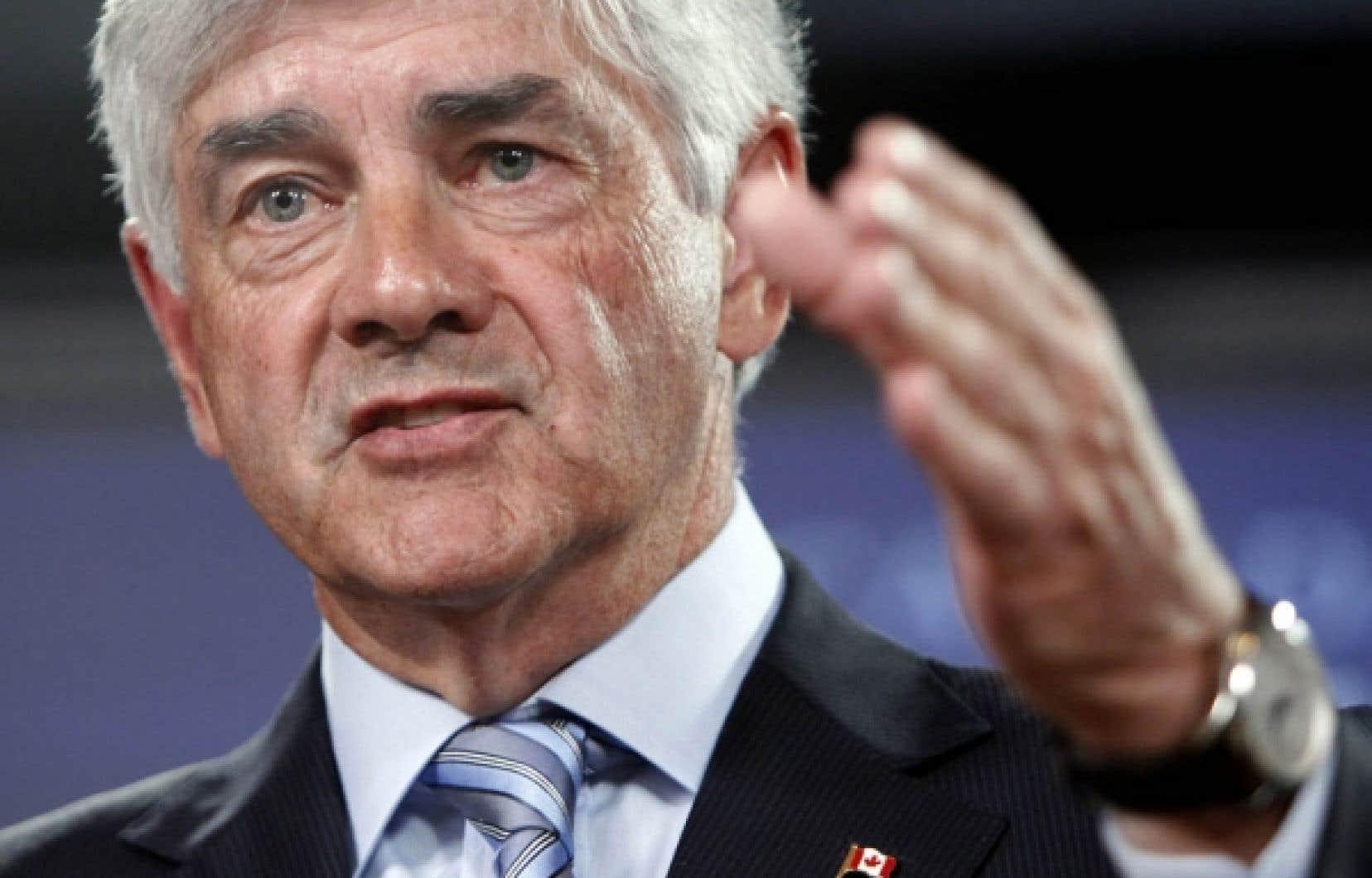 Le ministre des Affaires étrangères du Canada, Lawrence Cannon