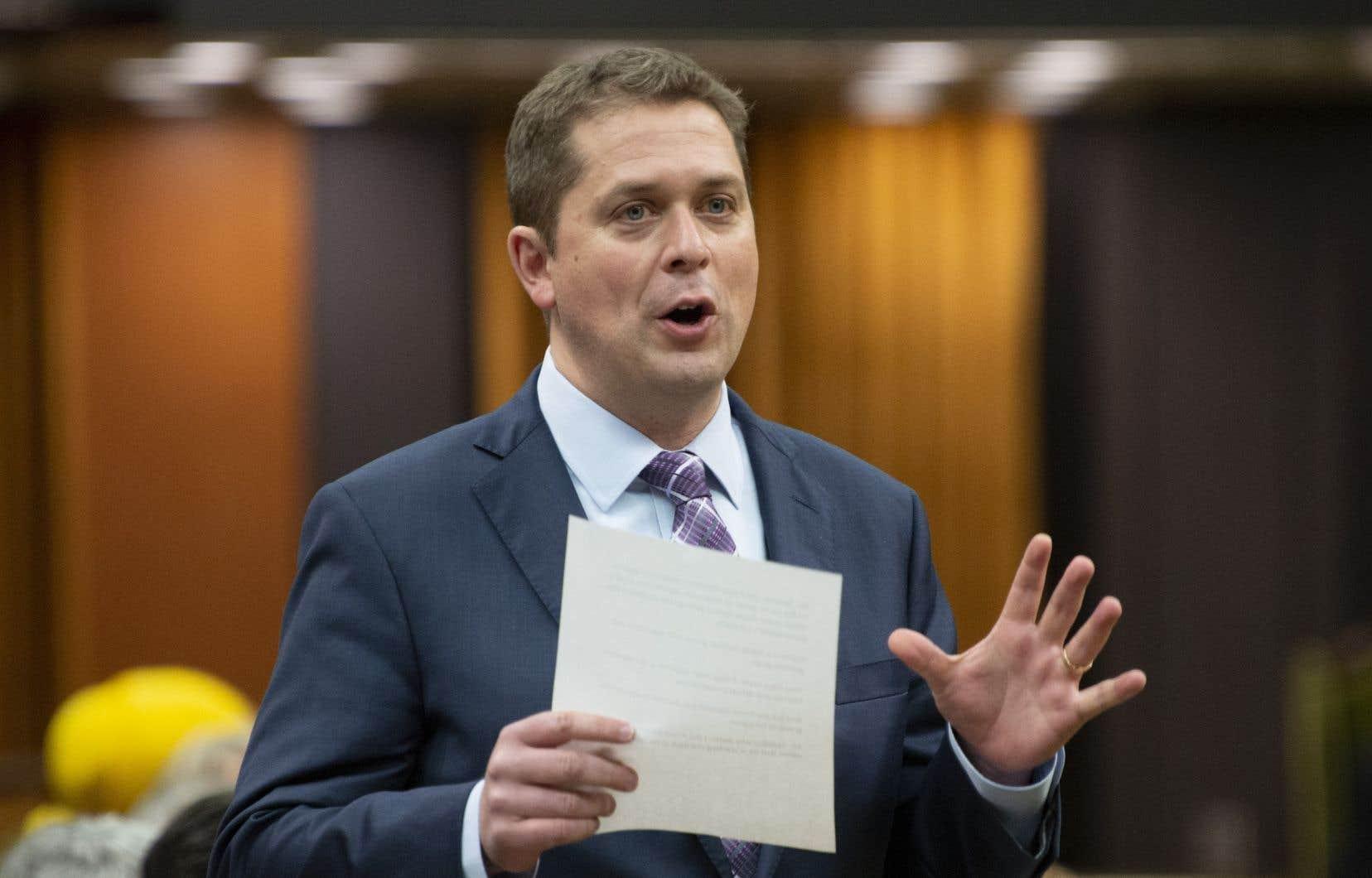 Le chef du Parti conservateur du Canada, Andrew Scheer, a profité de son discours devant les élus pour écorcher le premier ministre Justin Trudeau.