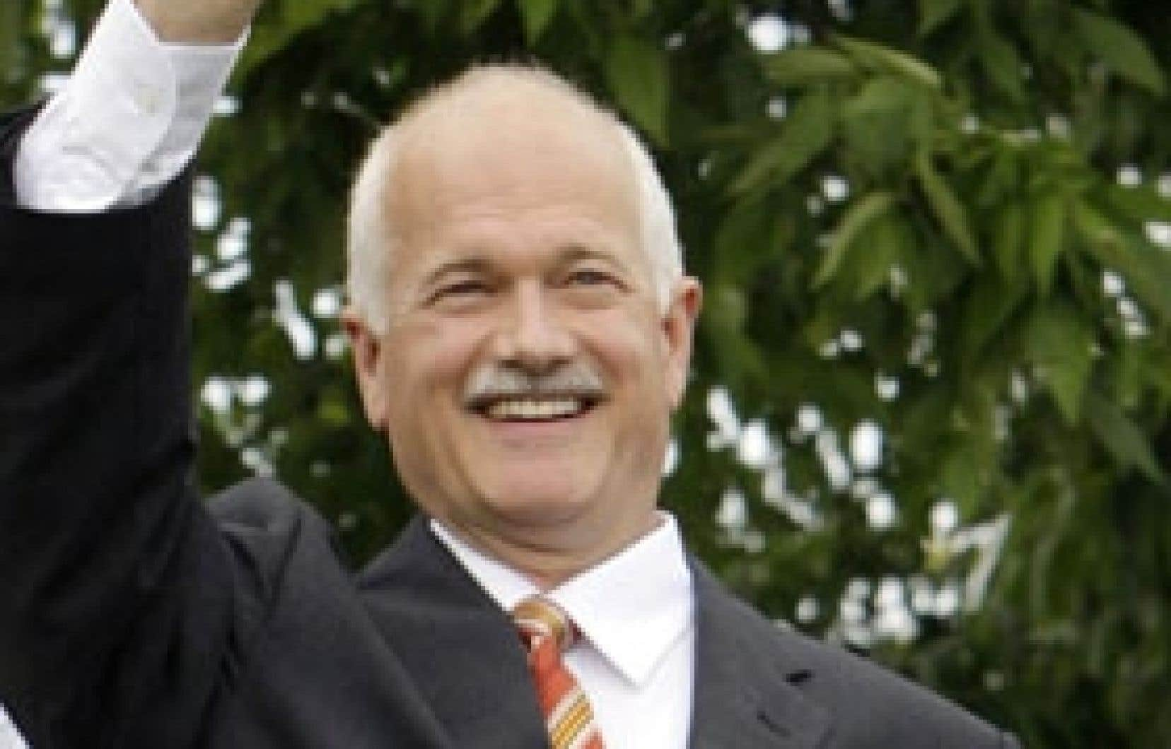Le chef du NPD, Jack Layton, a entrepris sa campagne à Gatineau.