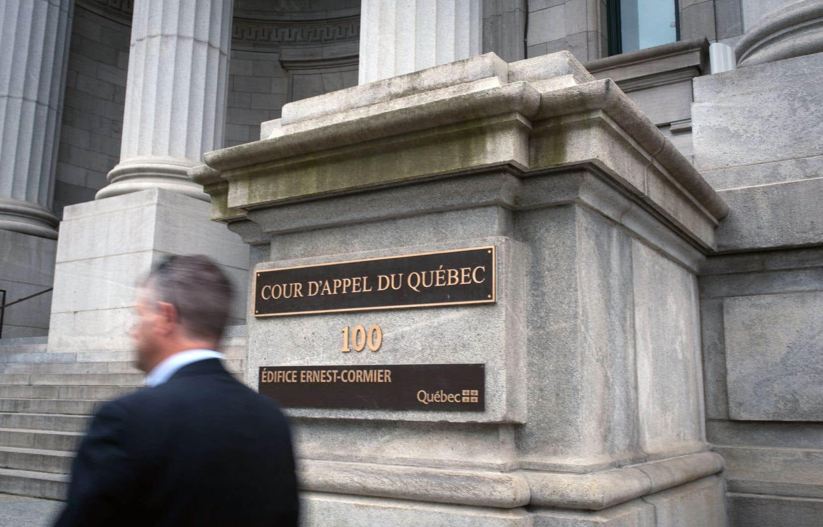 Bertrand Charest est devant la Cour d'appel pour les deux prochains jours.