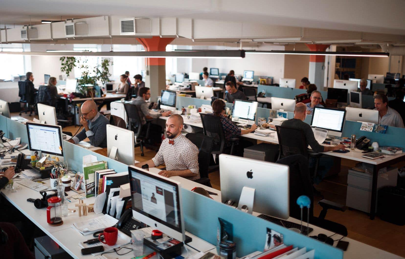 La salle de rédaction du «Devoir»