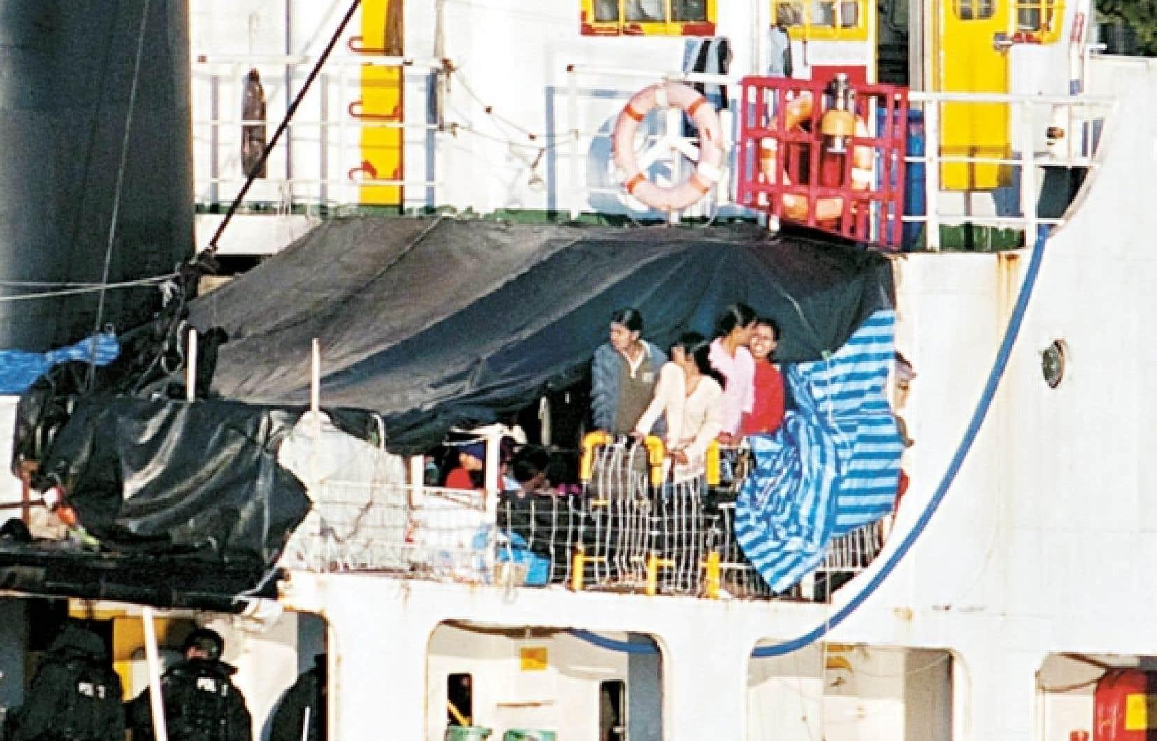 Près de 500 migrants tamouls sont arrivés le 13 août dernier, à bord du MV Sun Sea.