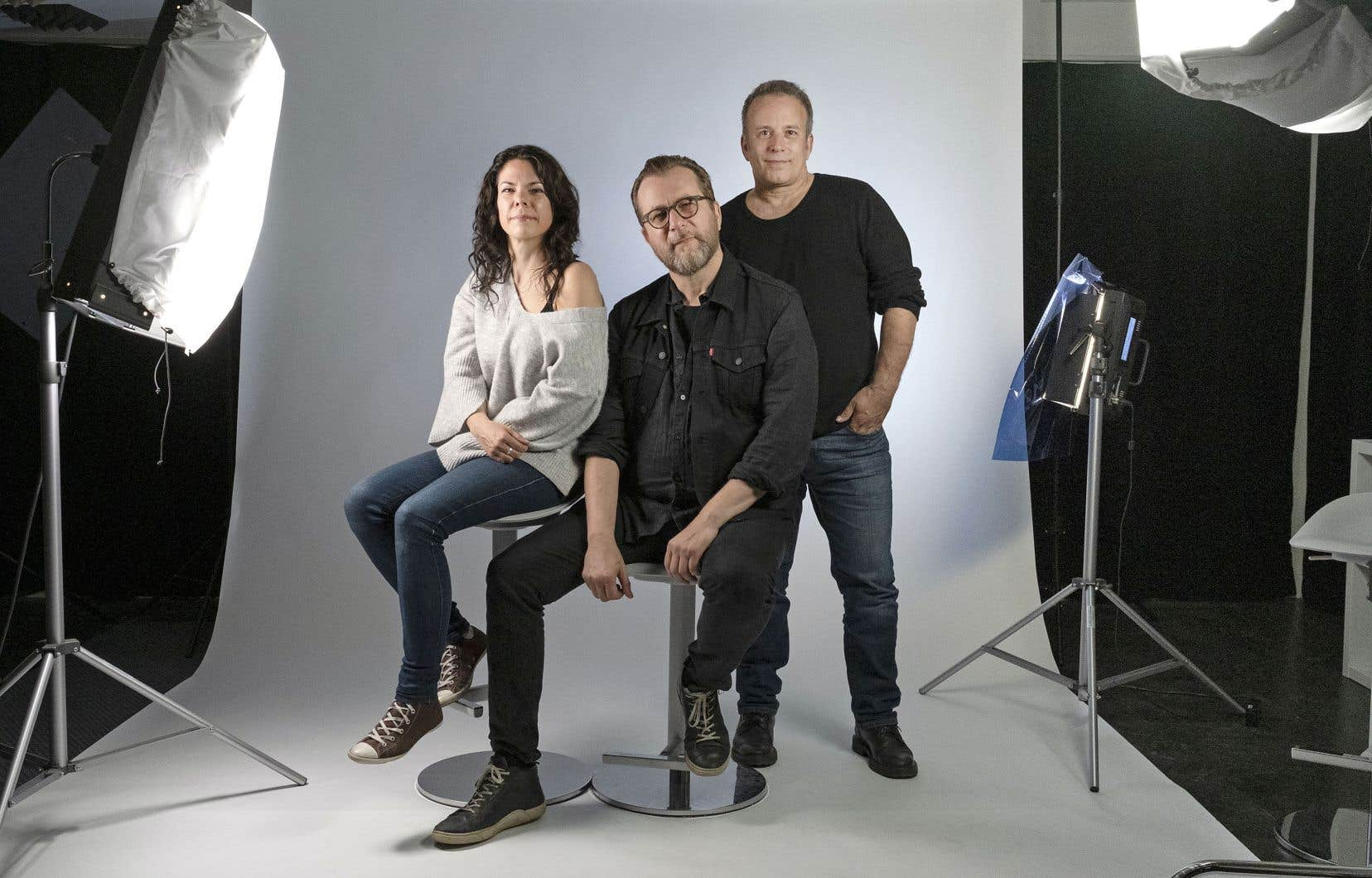 Catherine Durand, Luc De Larochellière et Marc Déry se sont retrouvés dans les locaux du «Devoir» pour parler de leur carrière, du milieu de la musique et pour se faire tirer le portrait!