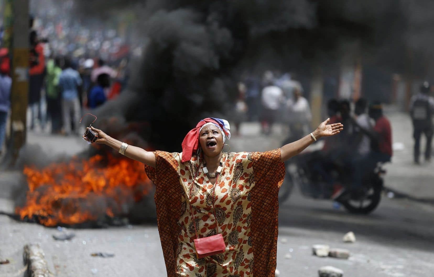 Des milliers de manifestants demandent la démission du président haïtien.