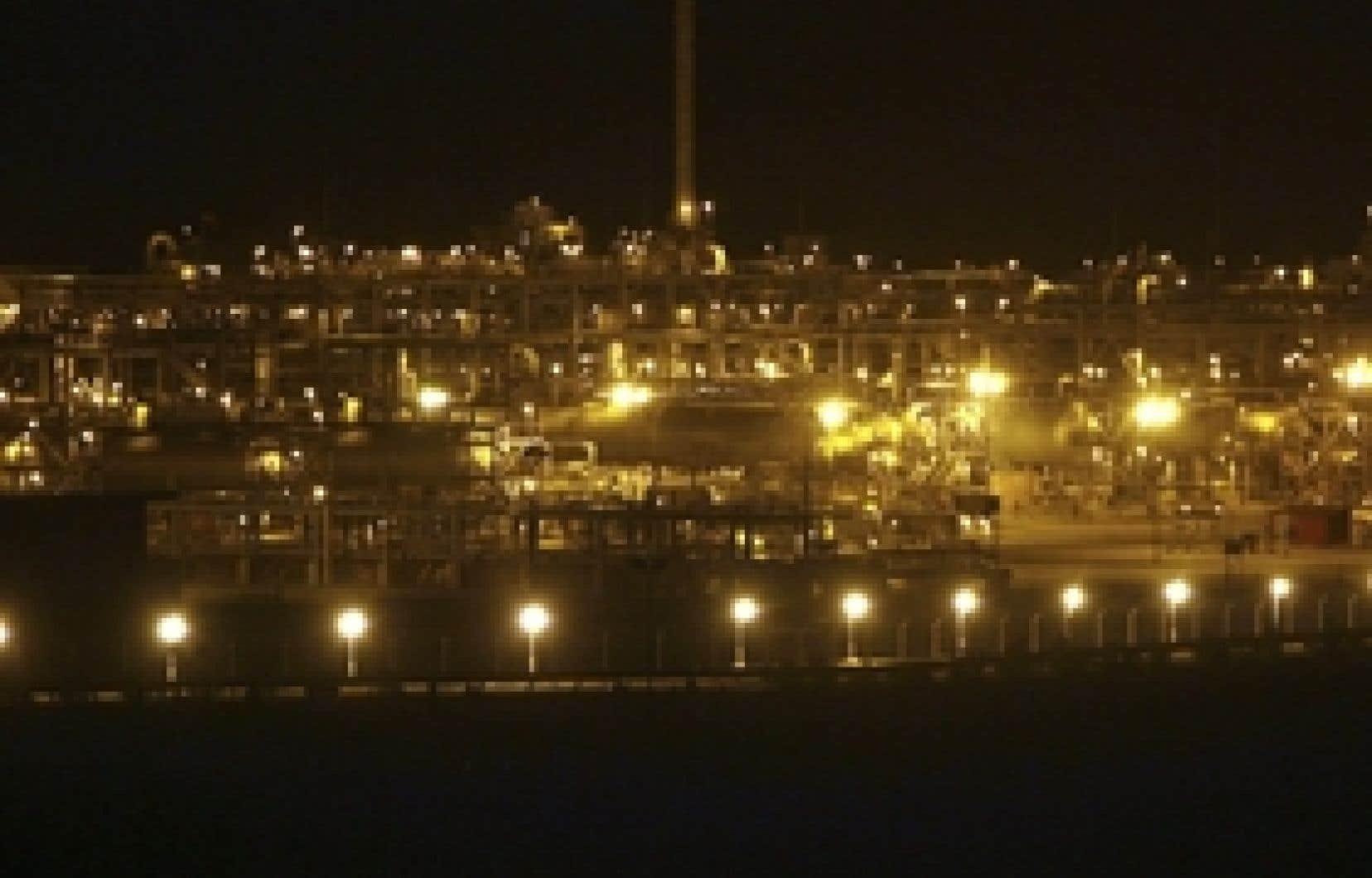 Le complexe du champ pétrolifère de Shaybah, en Arabie saoudite.