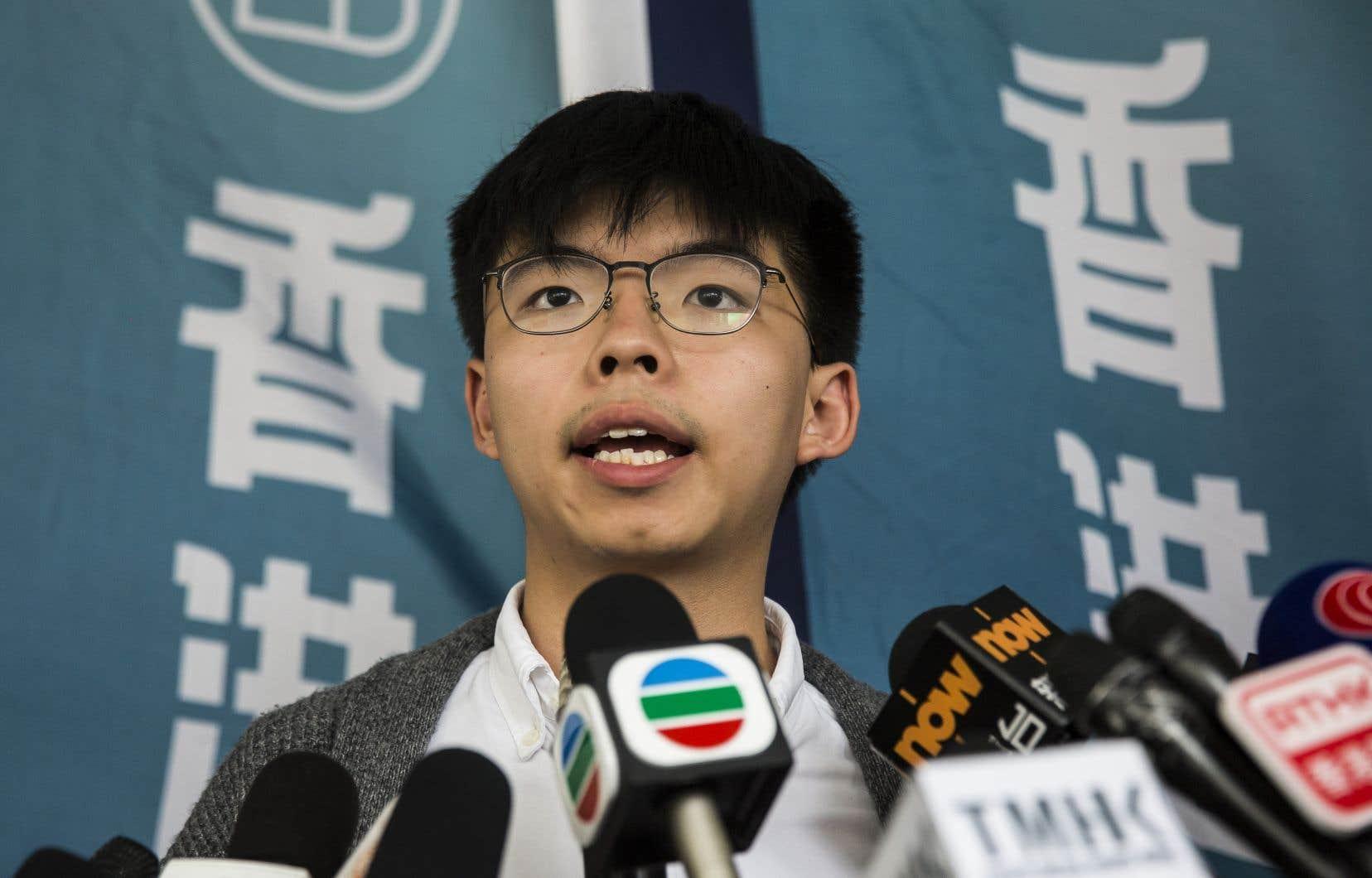 Joshua Wong avait été renvoyé en détention en mai après avoir été débouté en appel d'un recours contre sa condamnation.