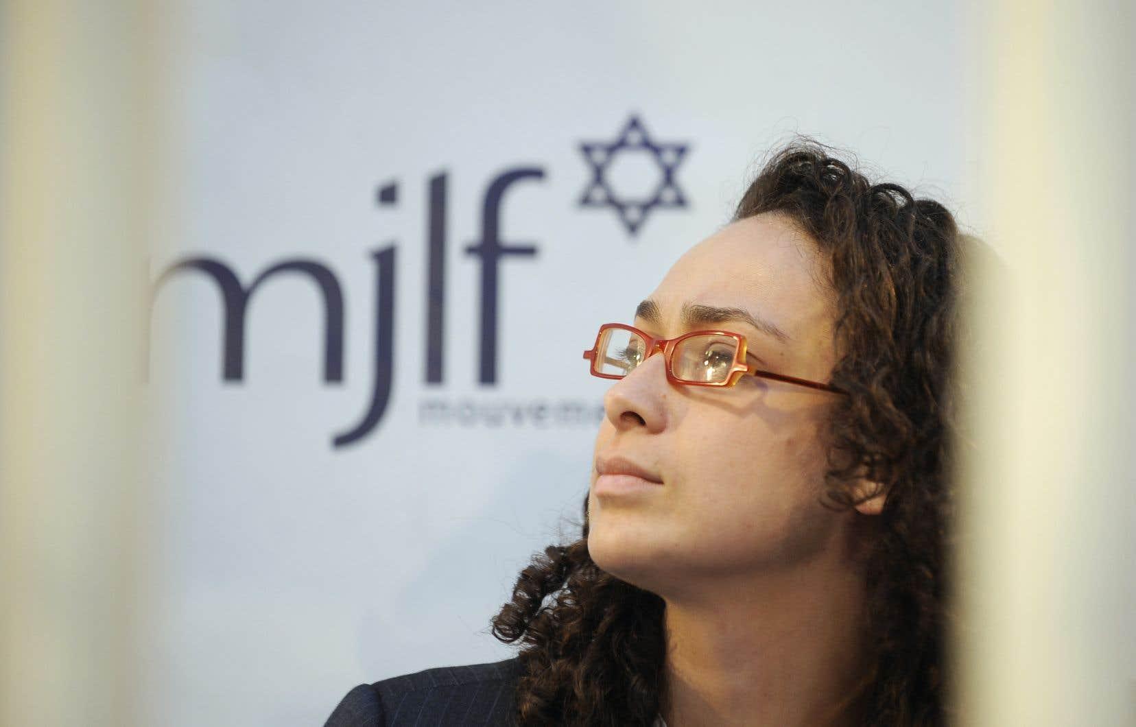 Delphine Horvilleur, femme rabbin exerçant en France, en 2010
