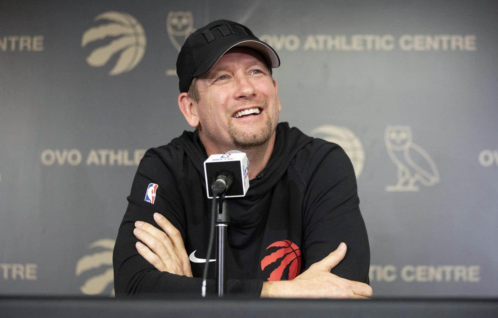 L'entraîneur-chef des Raptors a répondu aux questions des médias, dimanche, à Toronto.