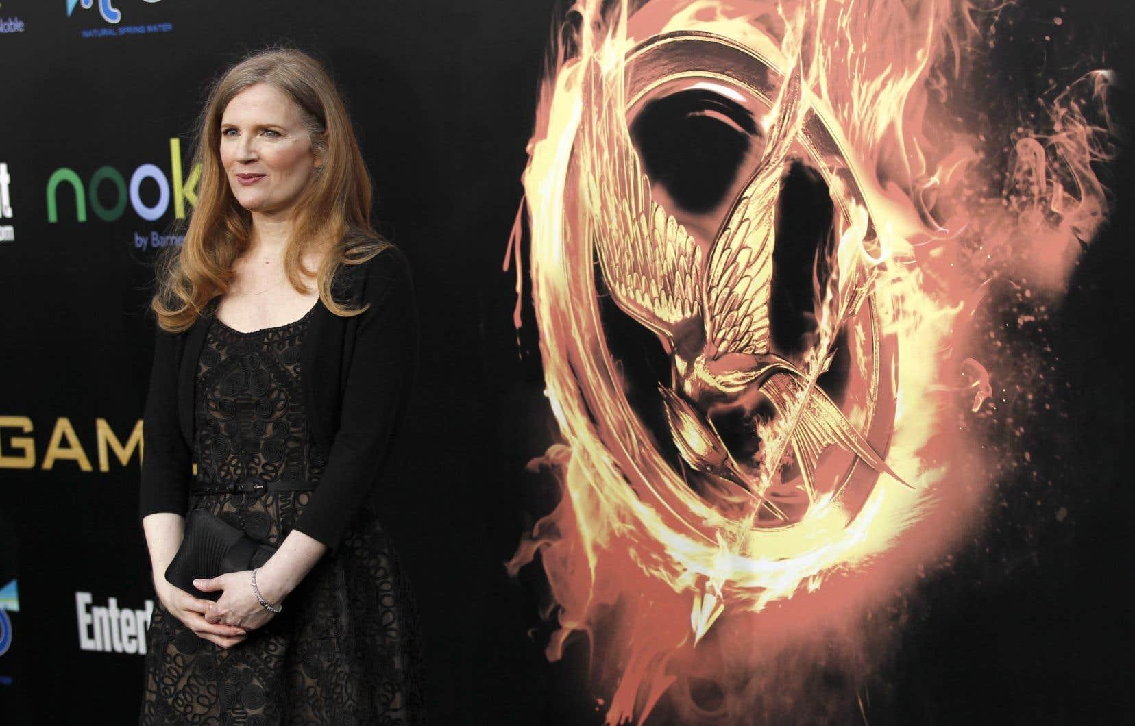 L'auteure Suzanne Collins, lors de la grande première du premier film de la franchise «Hunger Games».