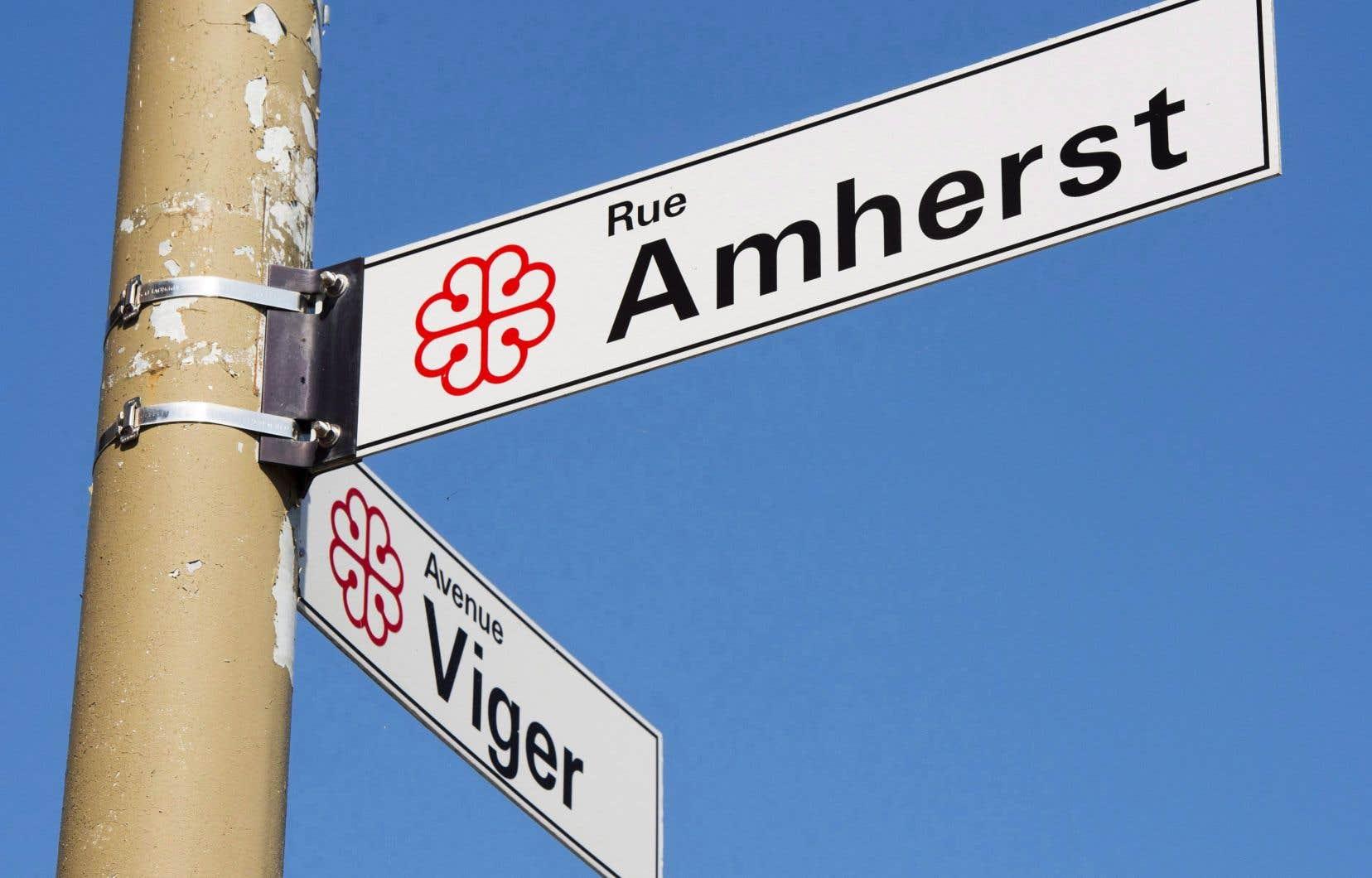 Le nom actuel de la rue fait référence à l'ancien général de l'armée britannique Jeffrey Amherst, qui a dirigé la conquête de Montréal en 1760.