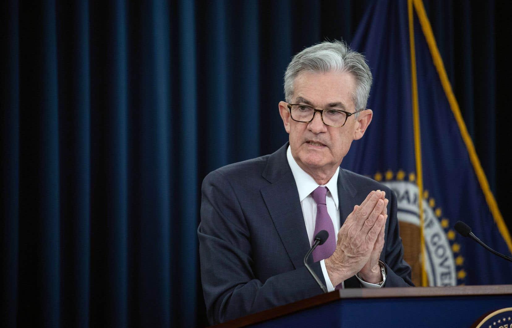 Jerome Powell, président de la Fed, a pris la parole mercredi lors d'une conférence de presse, après une rencontre du comité de politique monétaire de son organisation.
